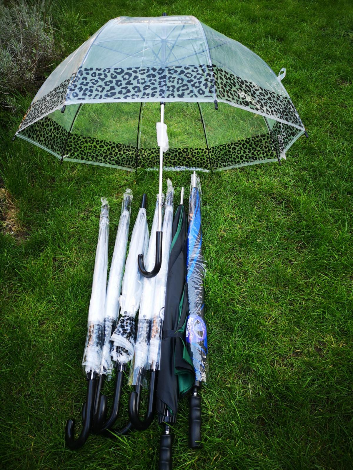selling new never used umrellas .. selling all as a bundle and no silly offers please can deliver locally or £3.00 extra up to 10miles