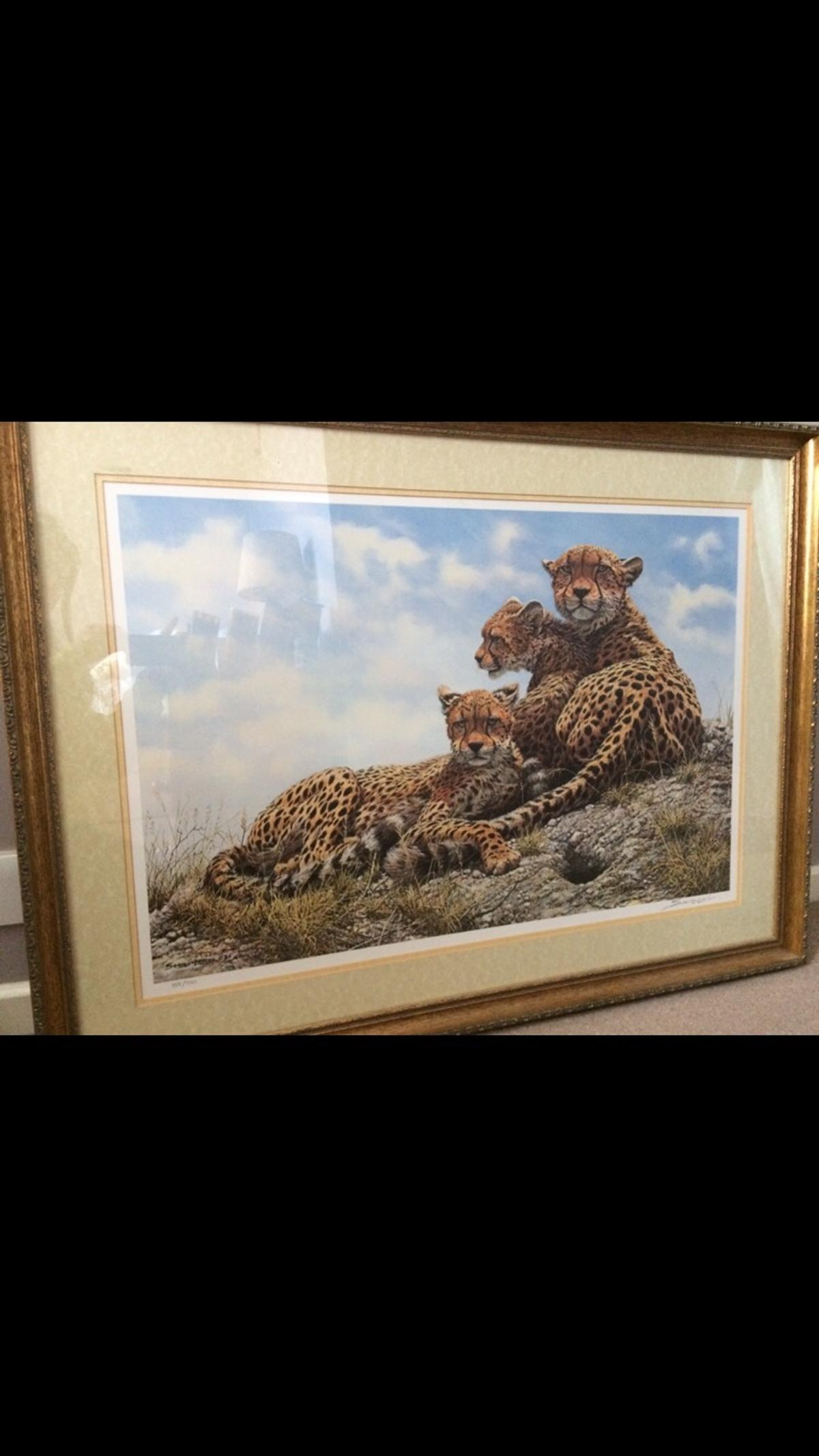 """Kenyan family artist John Seerey-Lester limited edition image size 20"""" x 30"""" unwanted Christmas gift have certificate of authenticity was £250.00"""