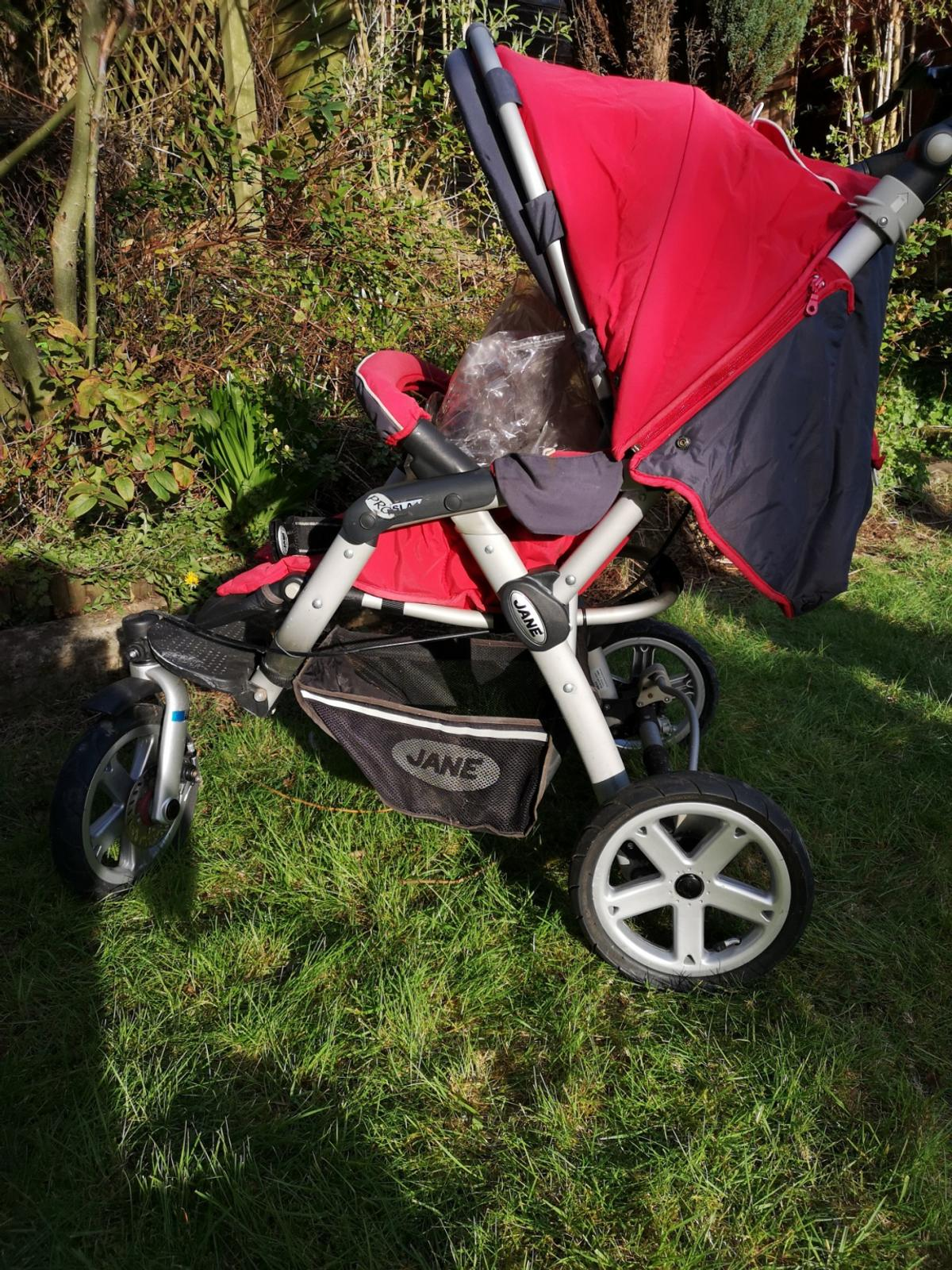 buggy, car seat, parasol, rain over, seat support all included  has been stored and needs some TLC, new inner tubes poss and a good clean ,a lovely usable buggy will be wiped over before collection  all covers are removable and washable signs of wear and tear are evident. all terrain 3 wheel jogger style removable hood, baby liner, basket, rear wheels one handed fold, 2 handed unfold adjustable handle, foot rest and multiple seat recline wheel fixed @front as clasp broken but fixable to swivel