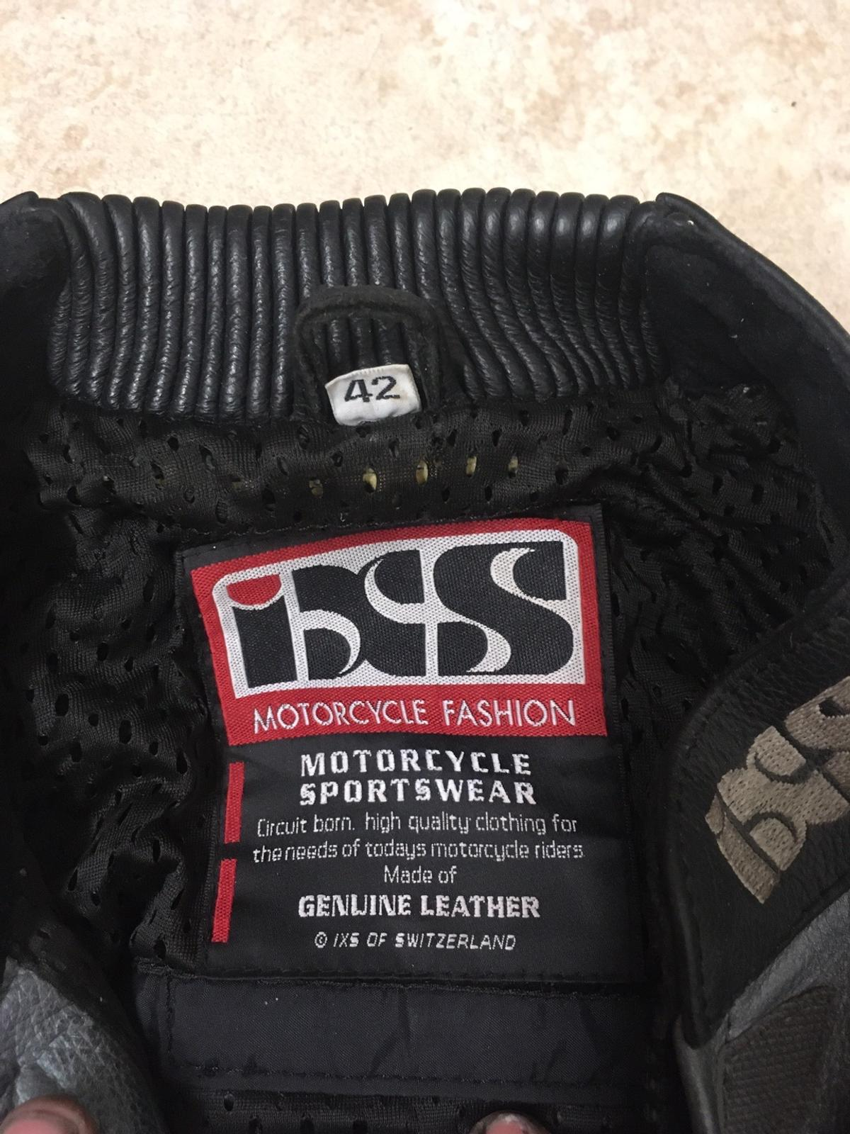 IXS Motorcycle leathers in good condition no rips or tears, all zips work good only selling due to me putting weight on