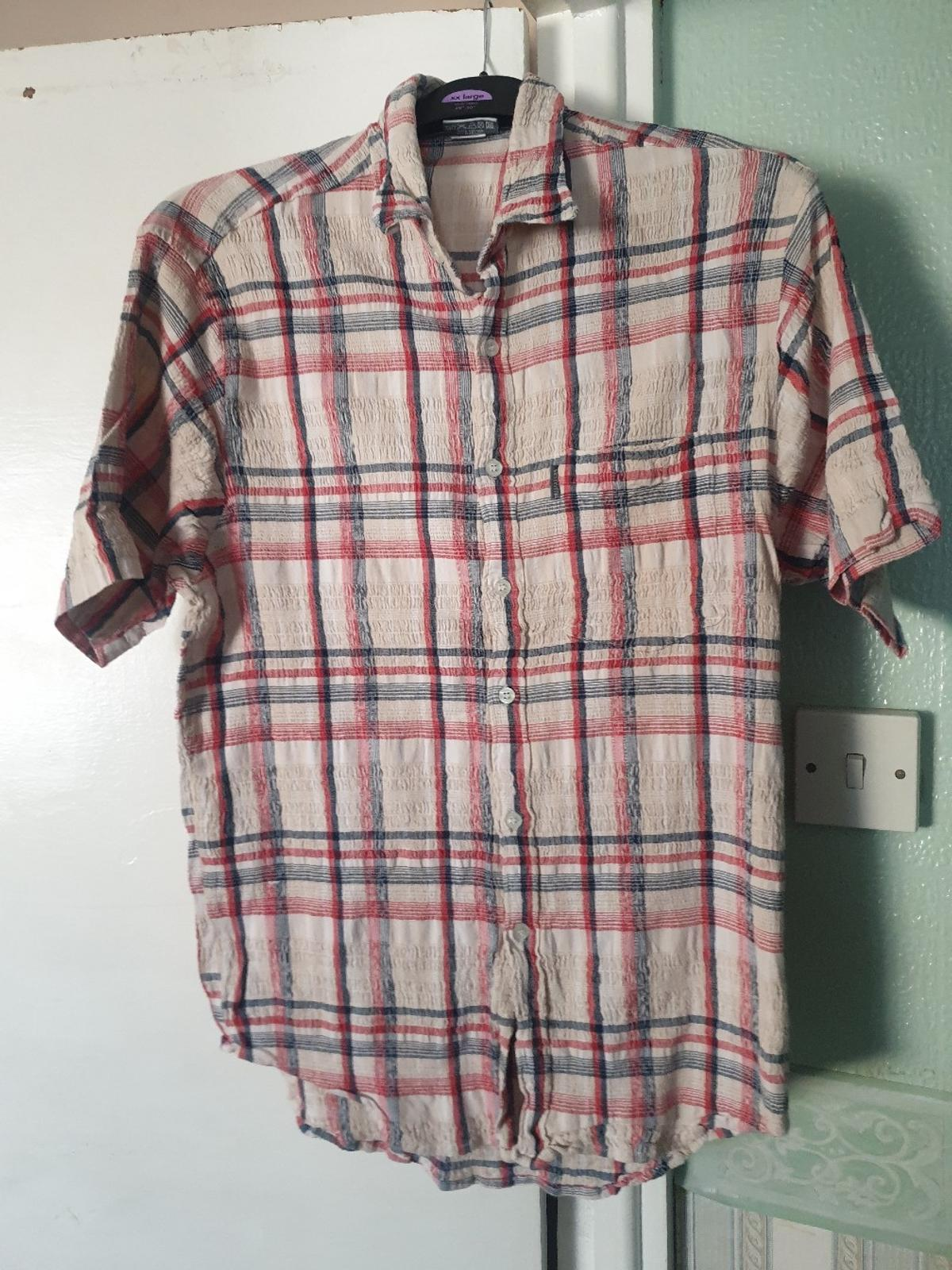Trespass check shirt size Large stretchy crinkle fabric, really unusual  PLEASE NOTE.... I CAN ONLY GET TO THE POST OFFICE ON A SATURDAY MORNING TO DO ANY POSTING