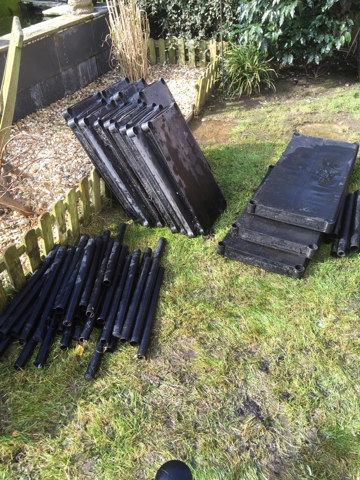 3 & shorter set of shelves 1x longer set of shelves £15 the lot Please note they have been outside so need a bit of a clean .. the longer set are free as the shelves a bit bent but useable