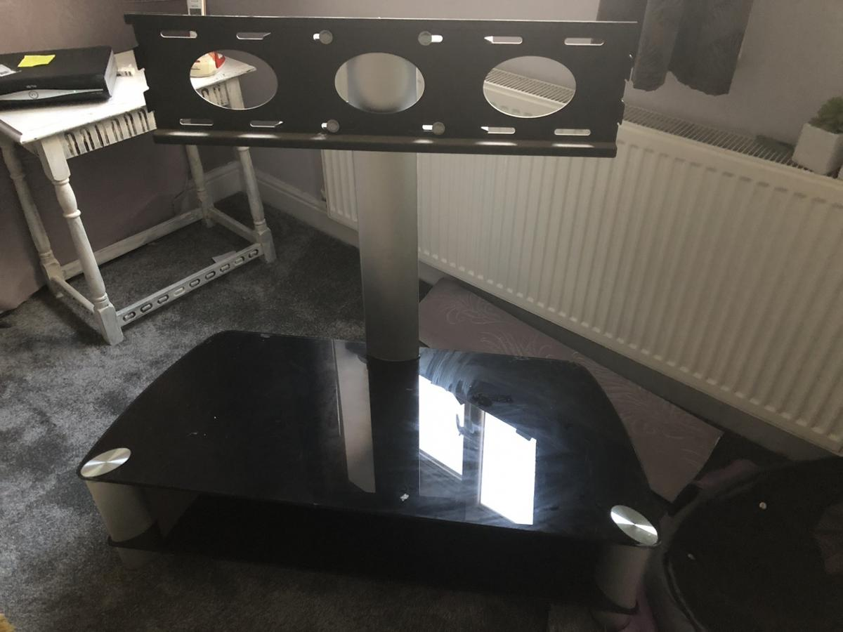 Black glass and silver Good used condition Will need a clean