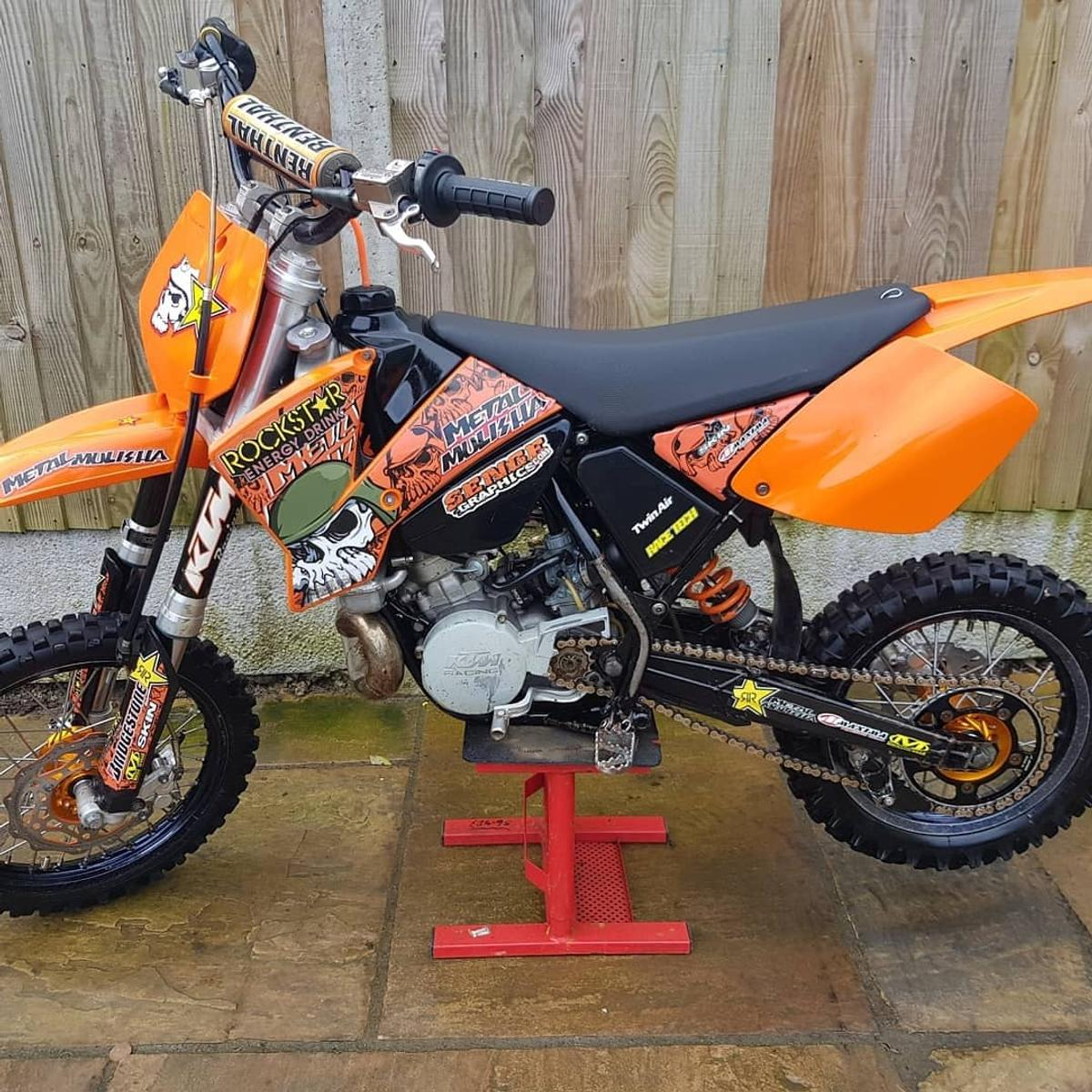 Ktm 65 sx 2007 Pro circuit pipe Excel rims with talon hubs Vforced reeds Renthal bars New rear mudguard New filtter New coolent New gear oil New plug New grips Starts and runs as it should £750 ovno Px welcome 2strokes only Local delivery available Delivery can be arranged anywhere in UK via a trusted courier for £100 Located in Canterbury Kent