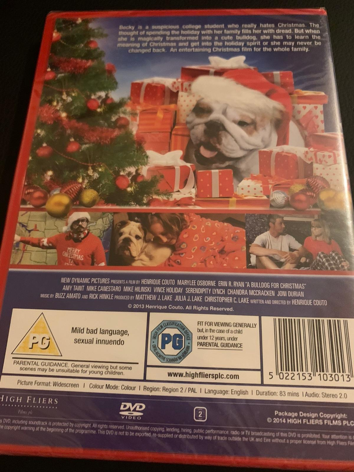 A bulldog for chrismas dvd unopened in packaging