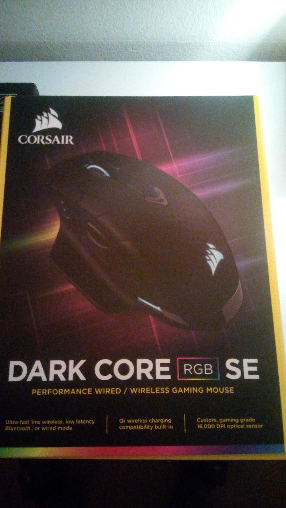 Wireless/wired Gaming mouse, 16000 DPI optical sensor, 9 programmable side buttons