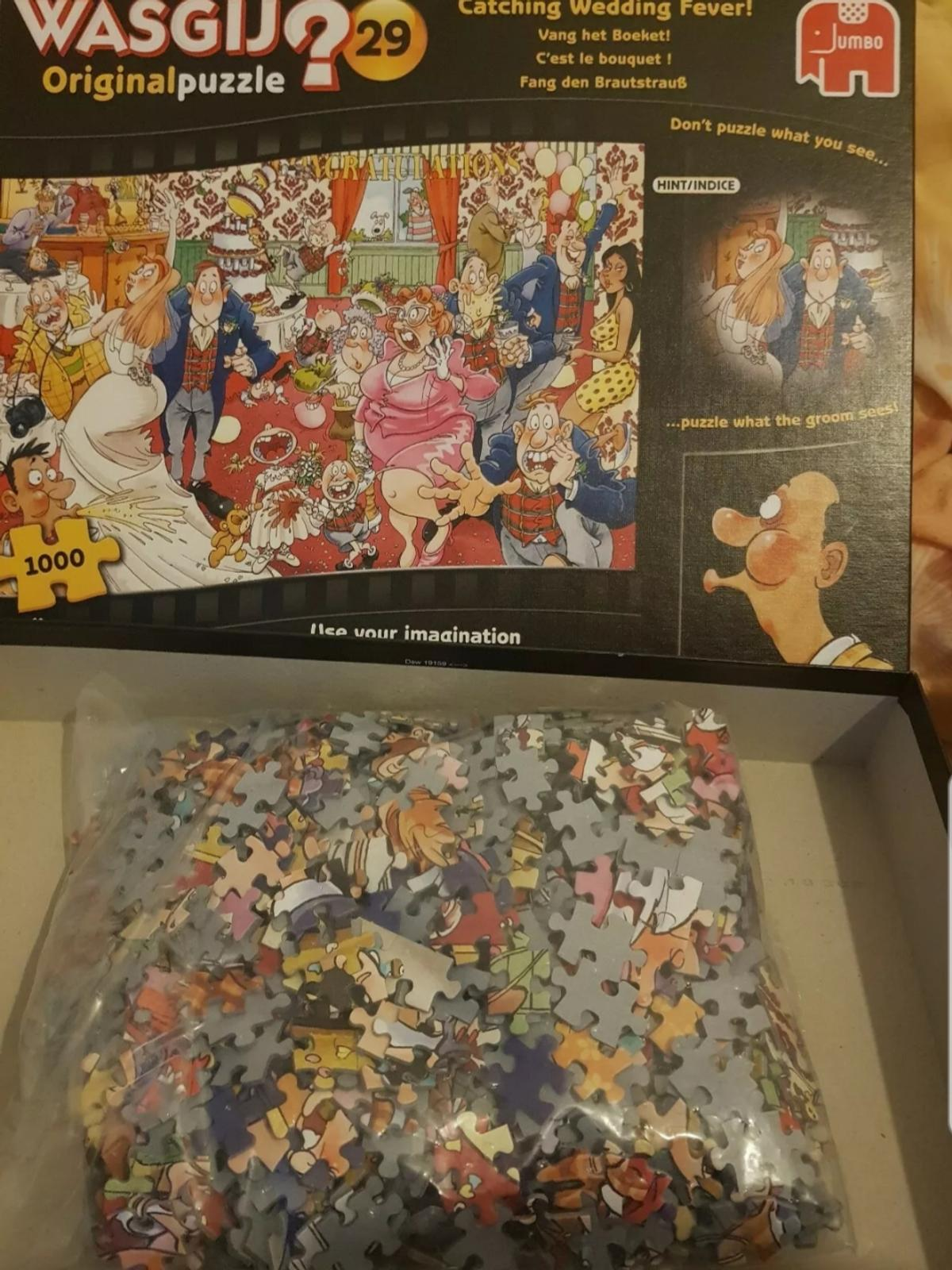 **POST ONLY **  USED Wasgij jigsaw puzzle 1000 pieces made by jumbo.  **PAYPAL TRANSACTION ONLY ** **POSTAGE £3.25**