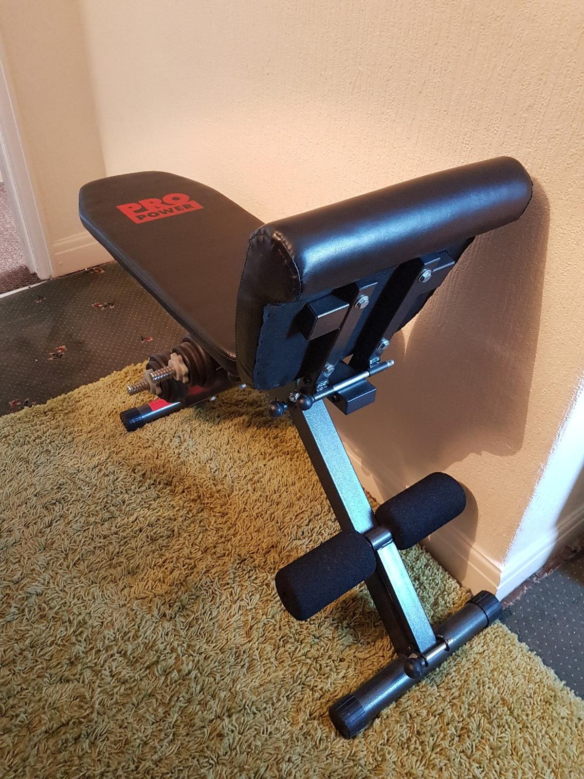 NOT REALLY BEEN USED ..IT SUPERB CONDITION...I WANT AT LEAST £50 REMEMBER ITS ALSO GOT A PAIR OF TOP QUALITY DUMB BELLS ... THE DUMBELL WEIGHTS ARE ..2X 1.25 KG PLUS ..1X 0.5 KG ....THAT ON ONE SIDE SO ..ITS THAT X 2 ....IF YOU UNFERSTAND ...WITH THE BENCH ..THE BENCH LAYS BACK. IF NEEDED ....GRAB A BARGAIN....ITS COLLECTION FROM WF33EU AND CASH ONLY ON COLLECTION PLEASE LOOK AT MY OTHER ITEMS ON MY SITE...
