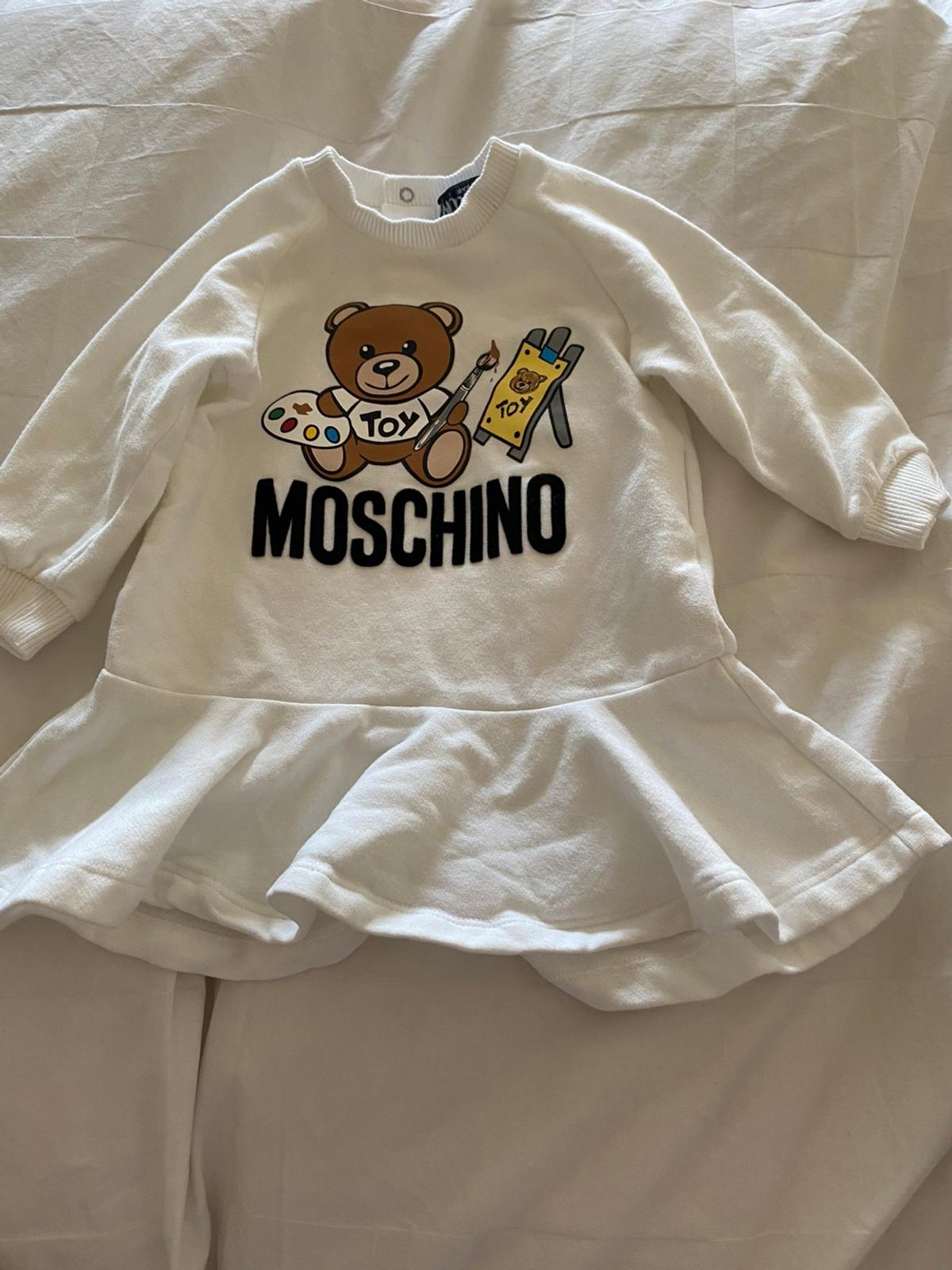 Authentic baby girls Moschino dress, size 6-9months.