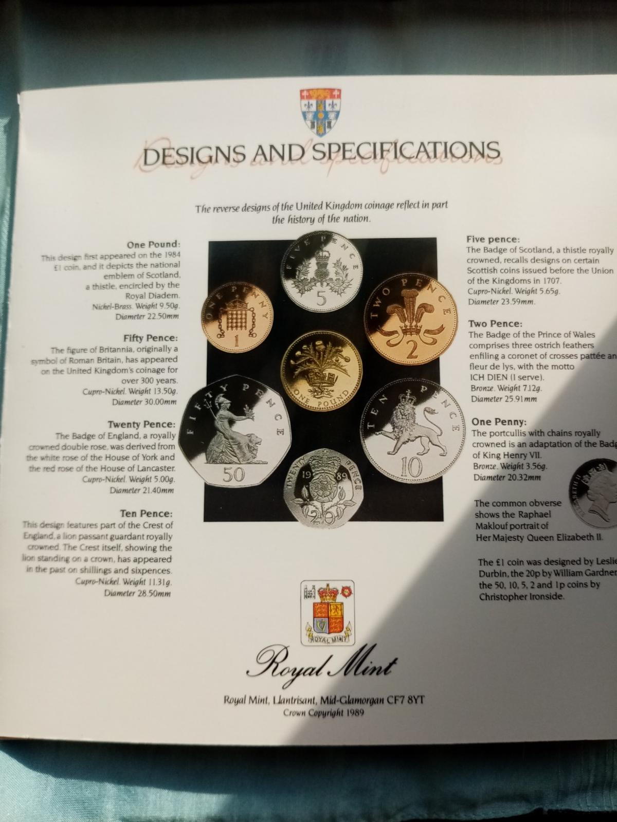 A beautiful unc royal mint 1989 coin collection in sealed packaging in brilliant uncirculated condition and never been out the packaging. Postage will be added at £2 and its first class signed for.