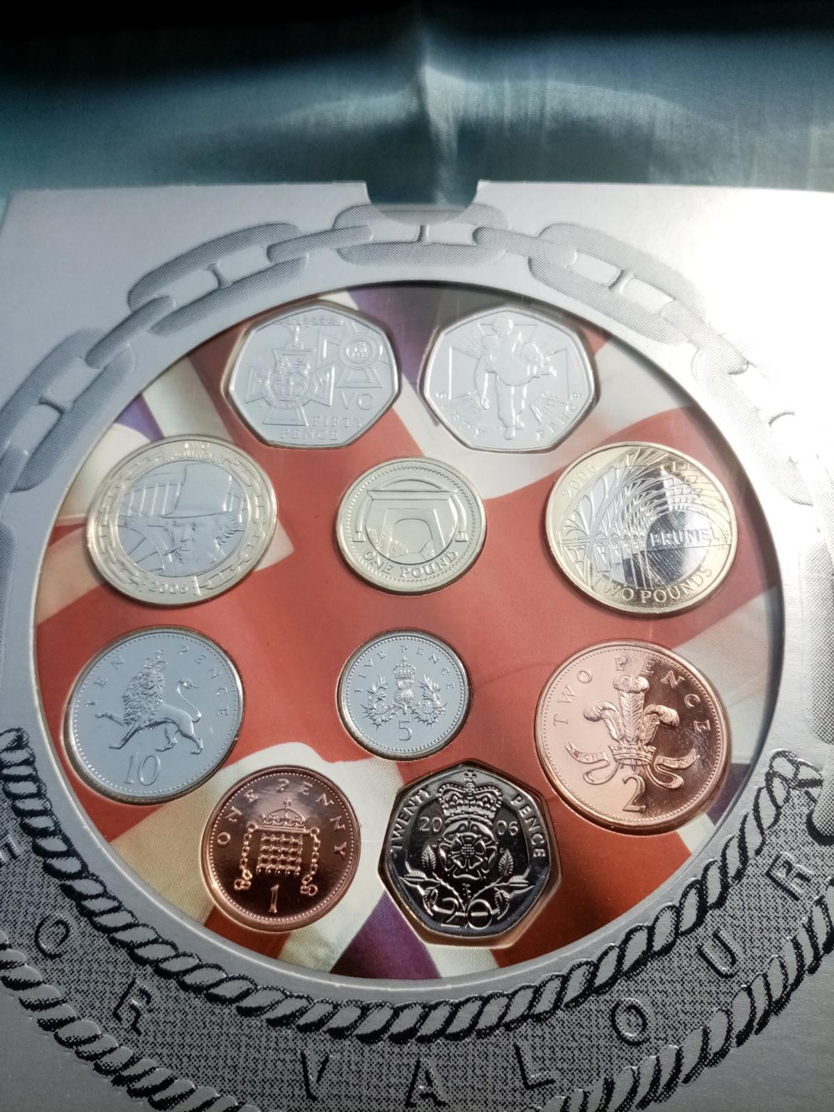 A beautiful unc royal mint 2006 coin collection in sealed packaging in brilliant uncirculated condition and never been out the packaging. Postage will be added at £2 and its first class signed for.