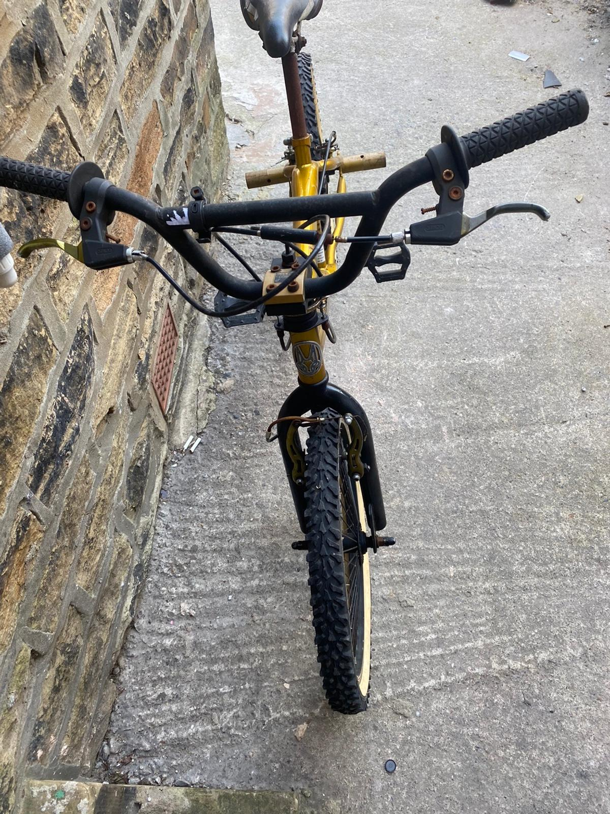 BMX stunt bike bullion silverfox Good tyres Multi spoke wheels Rear pegs Not been used for a while Brakes will need adjusting Can deliver for a charge