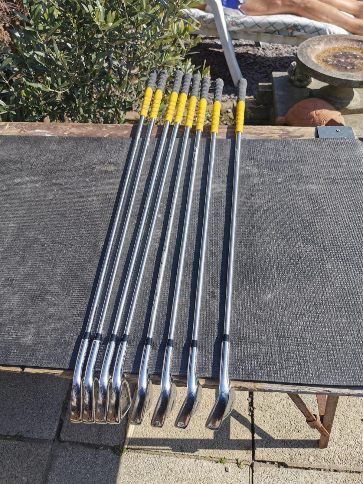Selling my taylormade RAC combi irons tour concept regular shafts golf pride grips Collection only