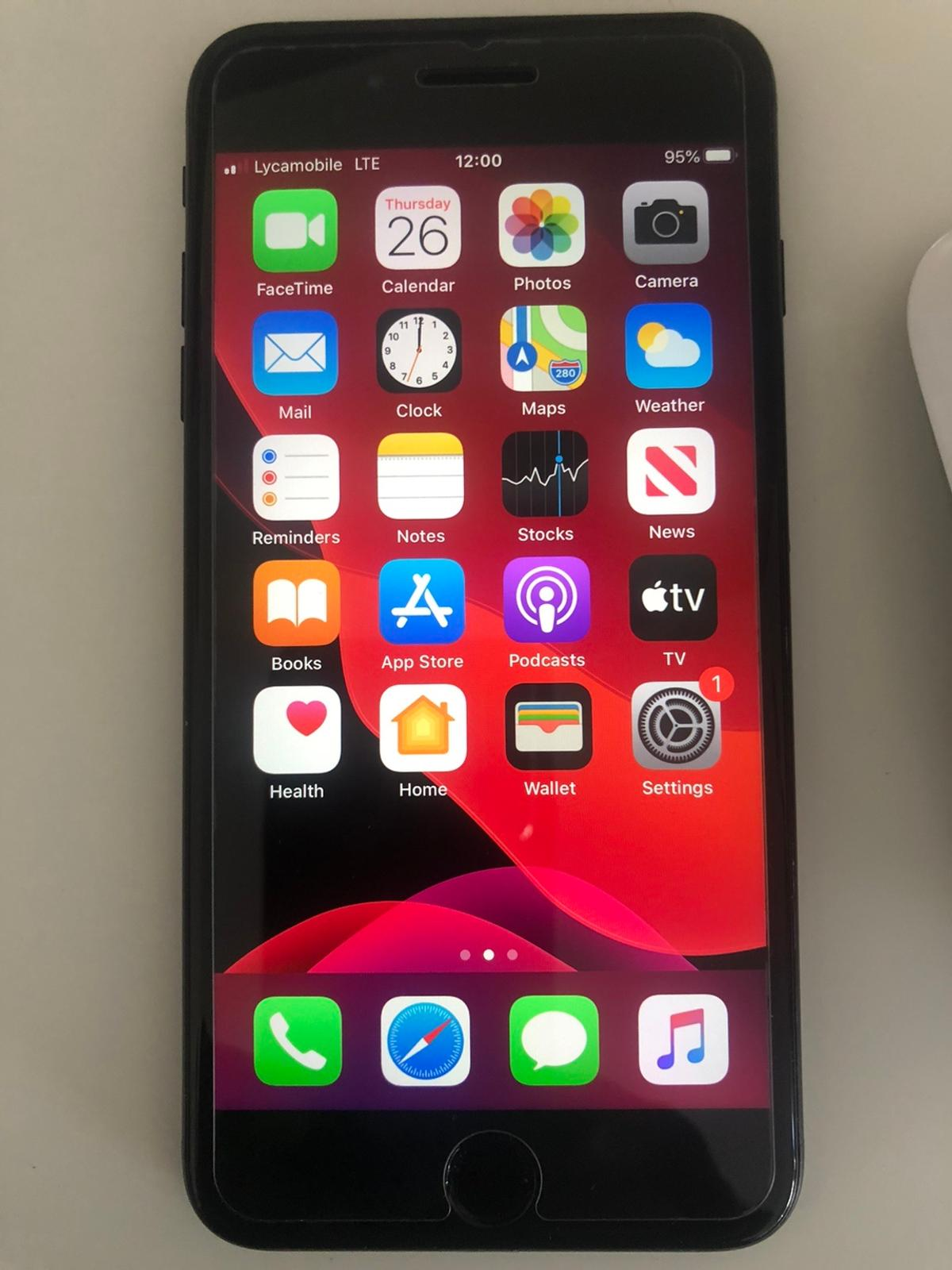 Hi here I have for sale iPhone 7 Plus mate black 128GB unlocked new CONDITION well look after fully working oder grate shape see pitchers for more details any question fell free to contact me thanks for looking.
