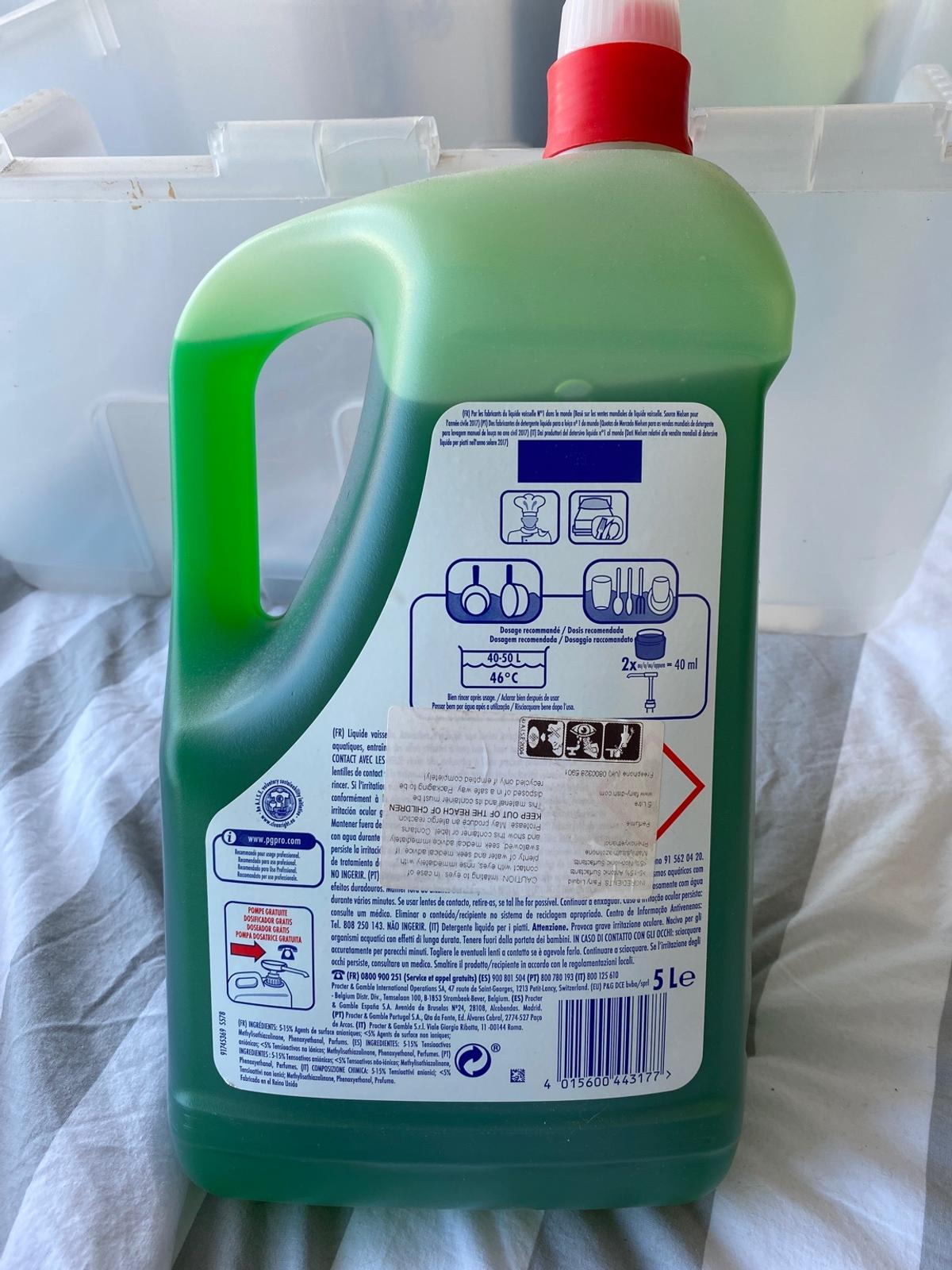 As stated a 5 Litre bottle unopened. Brand new. Good condition. No brakes. Good for washing up. Lots of uses.