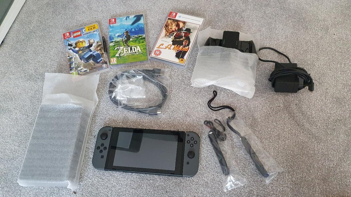 Hello I am selling by Nintendo Switch console. Only used it a few times and decided is not for me. Comes with everything you see in the pictures. I will give you a case and the three games you see. Collection from Sutton Coldfield Only serious offers please
