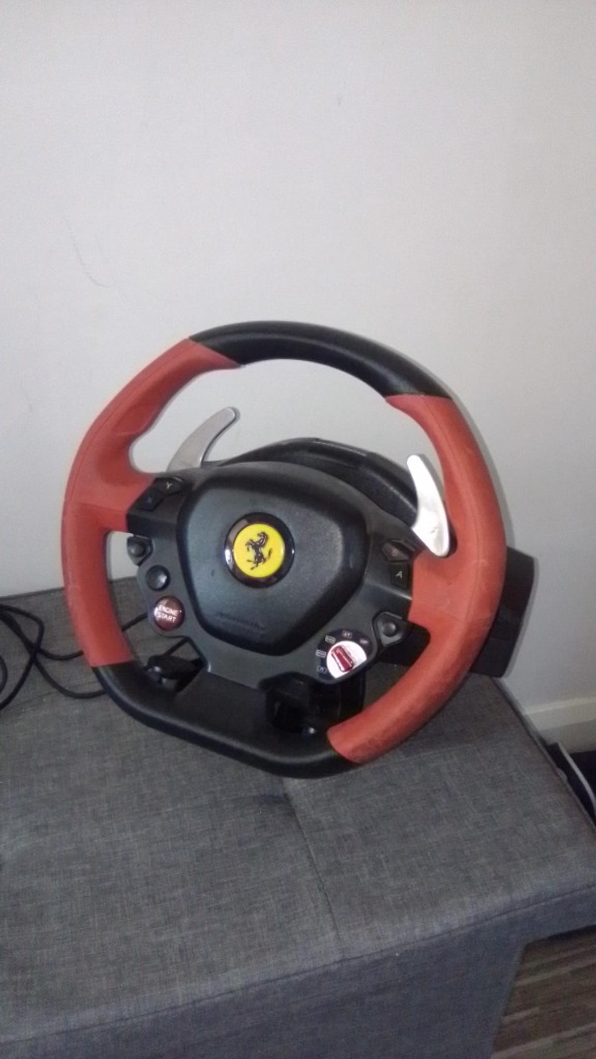 it's a 124 spider fararri Xbox one steering wheel.the make of it is by thrustmaster  collection only please  works with any Forza horizon game