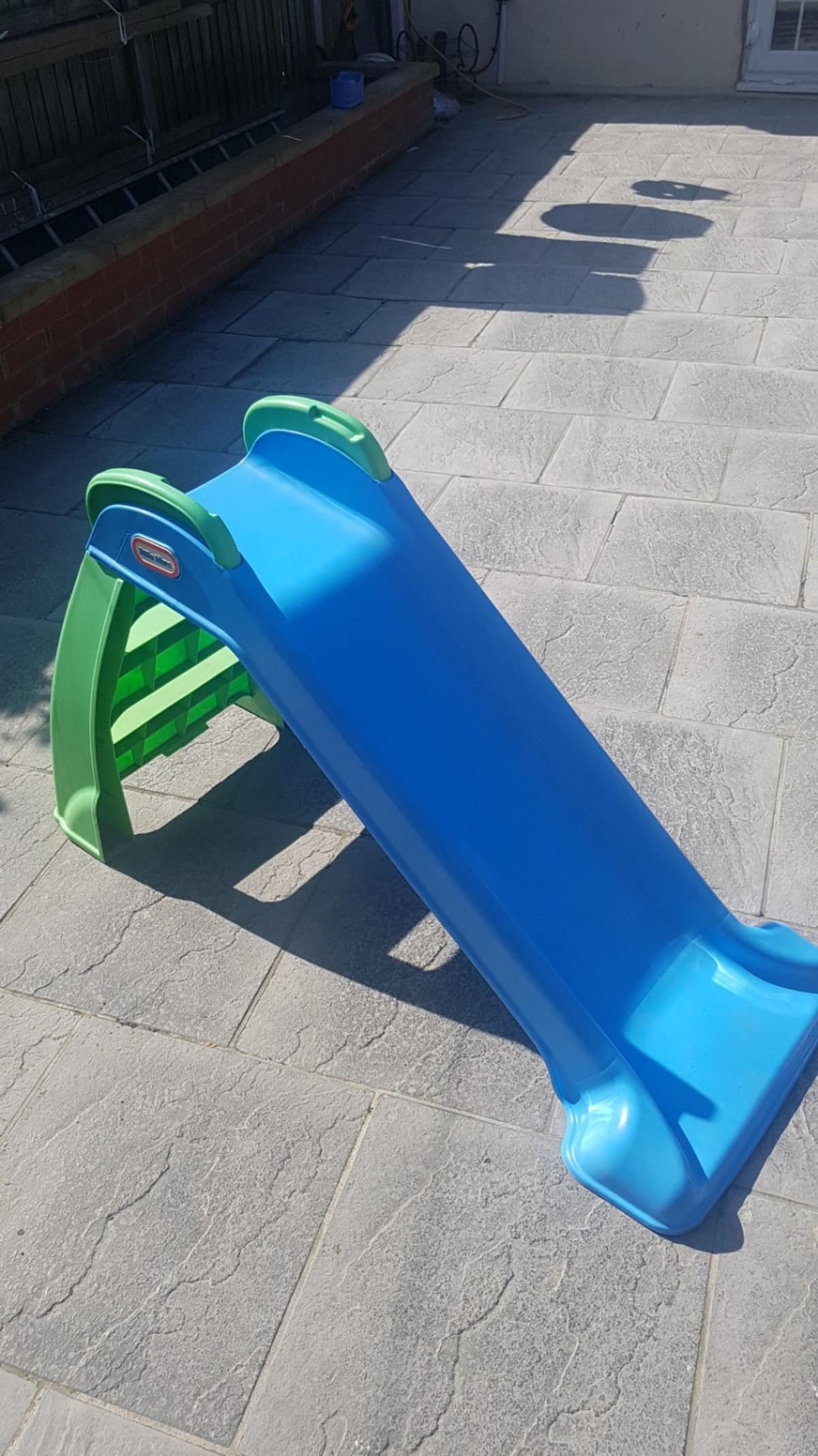 Hardly been used A great way to encourage your child to burn off some energy and get them out into the fresh air having fun. High hand rails snap into place for extra security. Made from sturdy moulded plastic.
