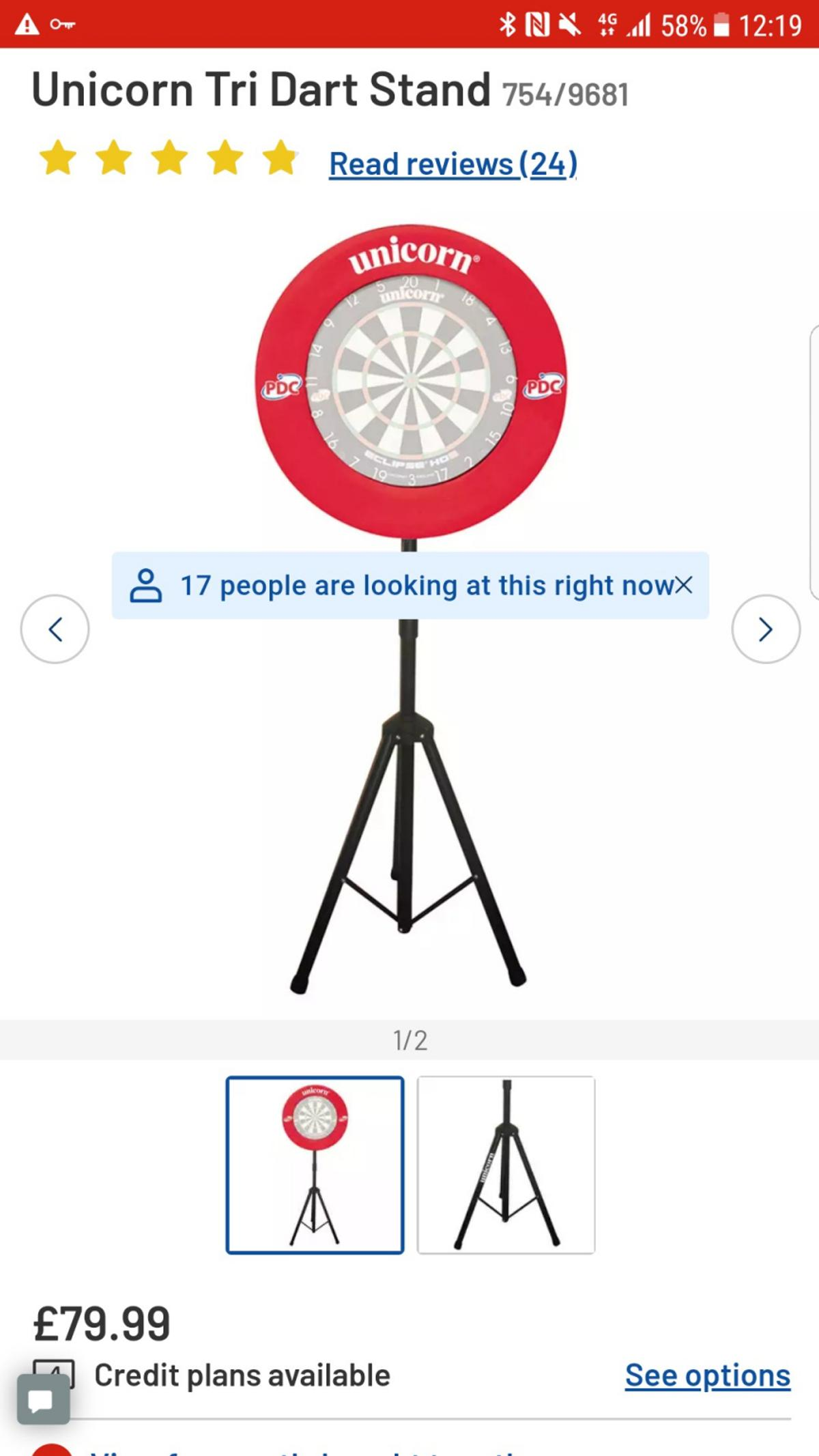 used twice. includes dartboard and set of darts if needed