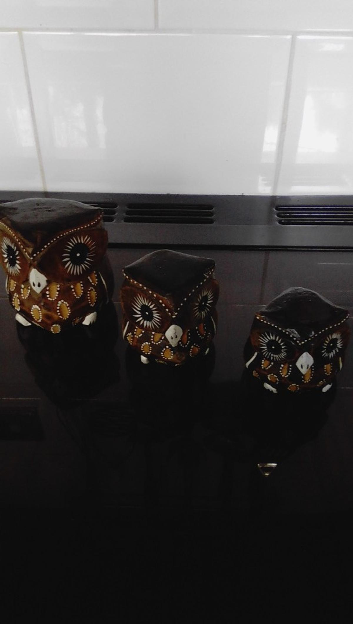 set 3 owls good condition collection wv1