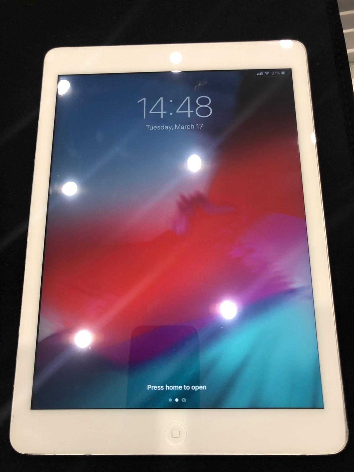 Hi here I have for sale iPad Air 1st generation 32GB WiFi + unlocked new CONDITION well look after fully working oder grate shape see pitchers for more details any question fell free to contact me thanks for looking.  NO POSTAGE AVAILABLE plz don't ask PayPal payment or to post to anywhere this item is only for collections.
