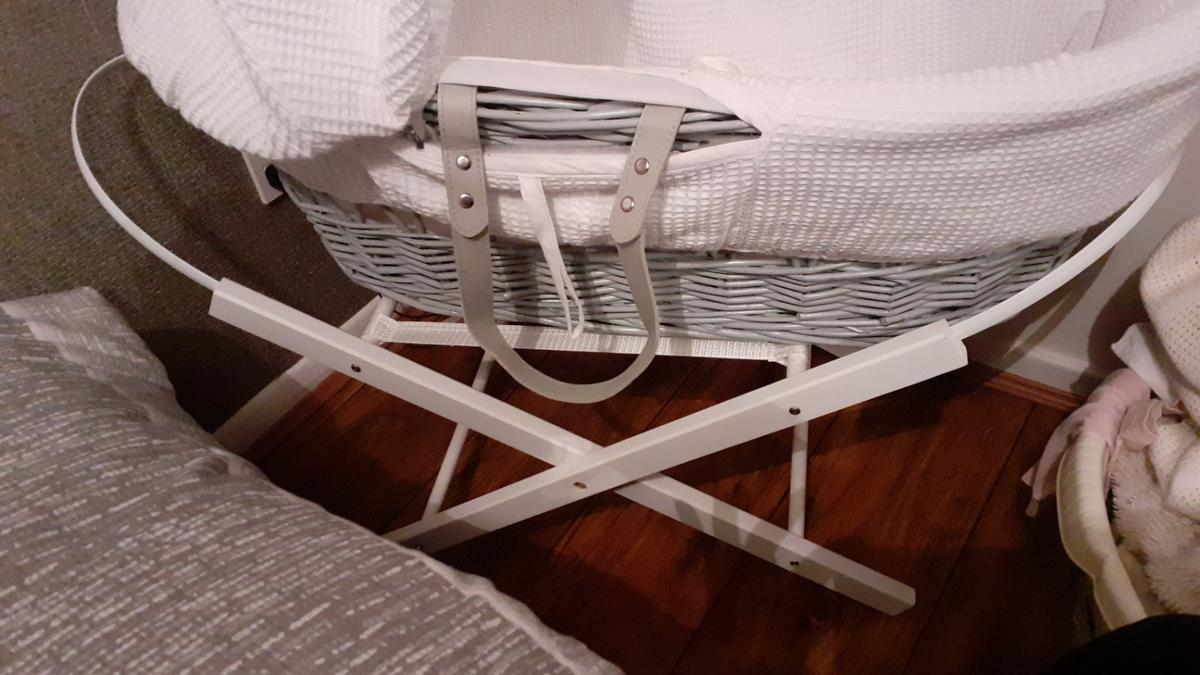 grey basket with white covers  collection only
