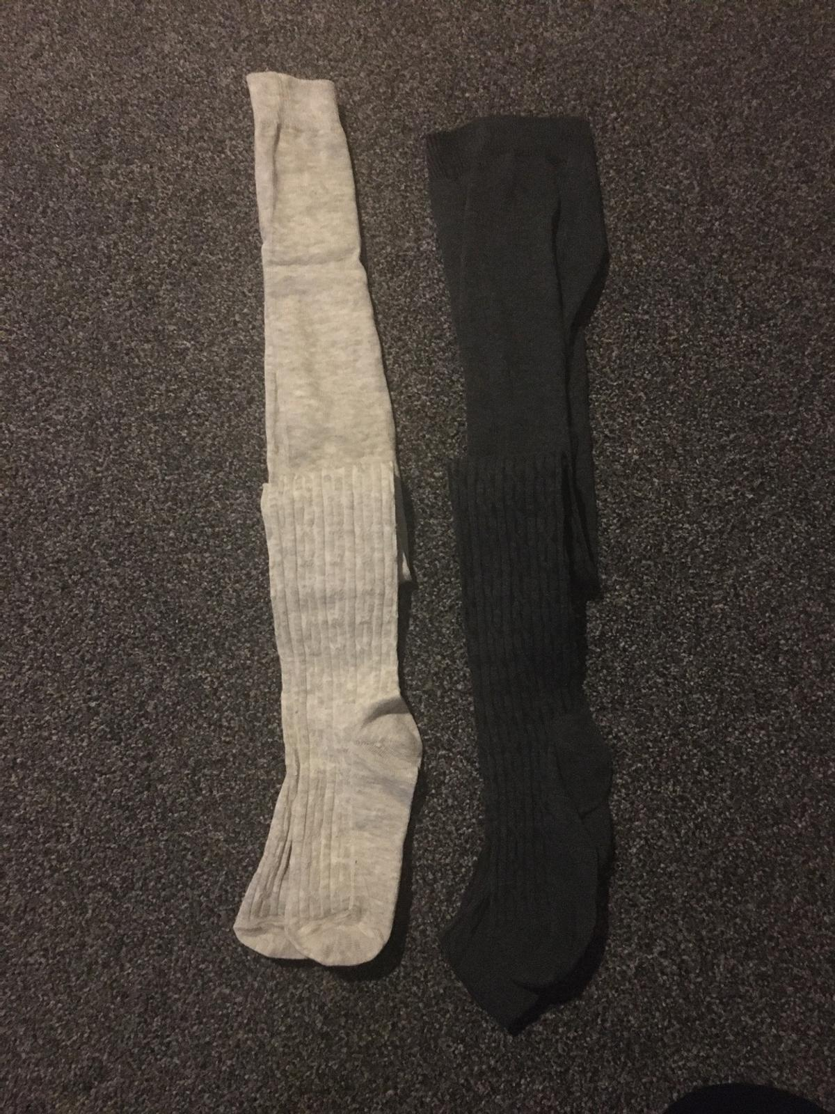 2 pair of grey tights age 7-8 collection S2 or can post if buyer pays postage