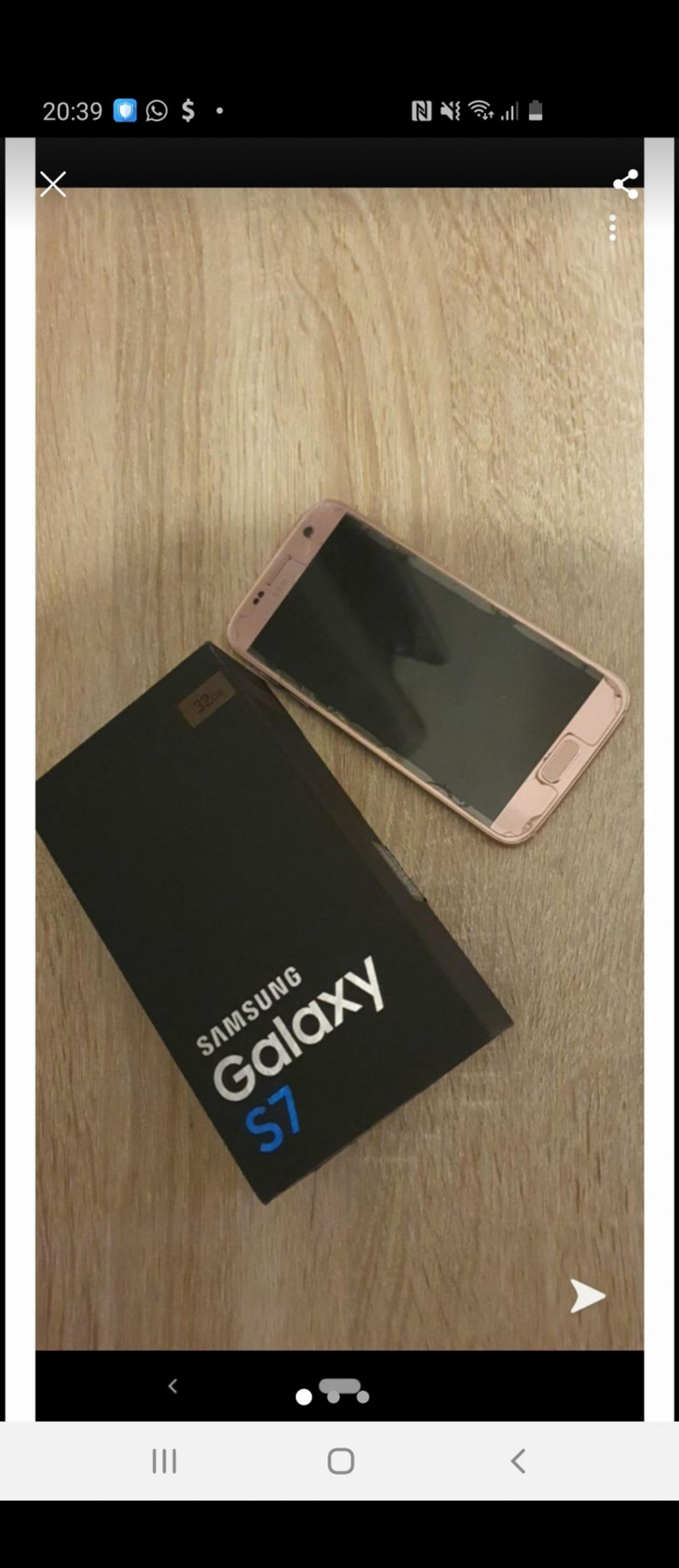 Samsung s7 32gb rose gold mint condition unlocked boxed only no charger got a silver sim tray but doesn't affect anything