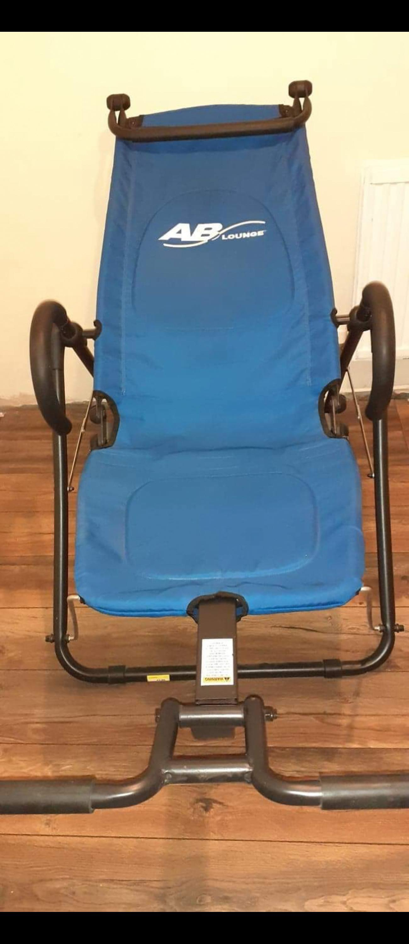 Ab lounger - folds up for storage (great condition) Ab roller and dumbbell. WN5 open to offers on all not free, can deliver for extra fuel. (Will make arrangements so we are apart and no one at risk)