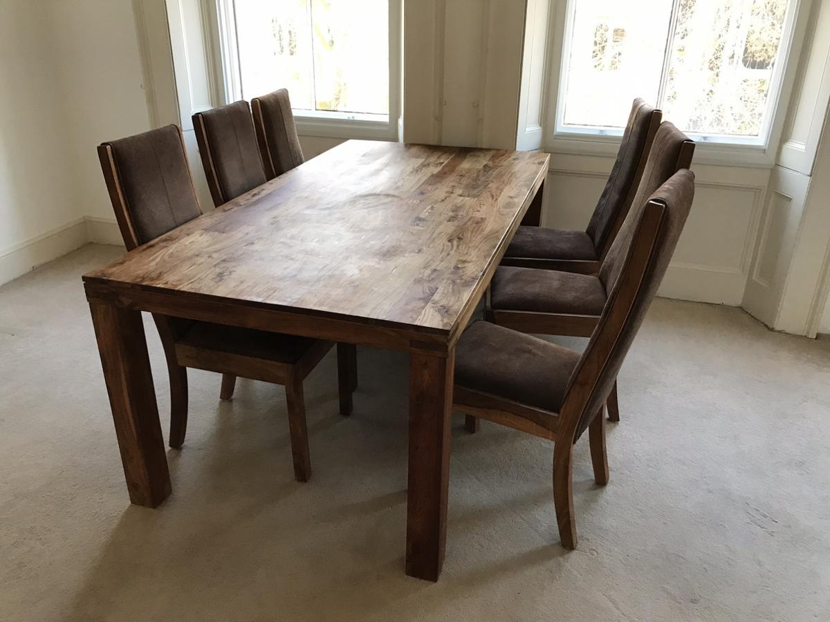 John Lewis oak dining table & chairs