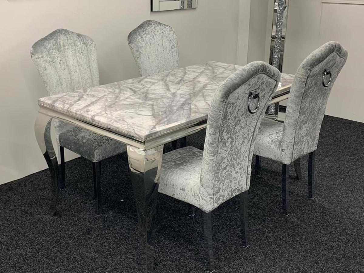 Louis Marble Dining Set 4 Knocker Chairs In Dl2 Tees For 699 00 For Sale Shpock
