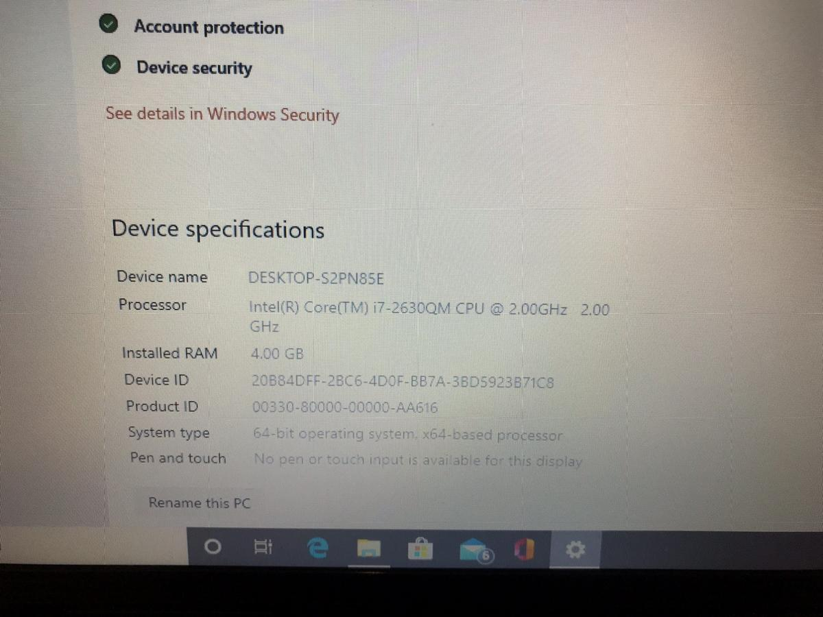 Swap for pc Hp dv6 i7 quad core laptop i7 2630 cpu 2.0ghz with turbo to 2.9ghz 4 physical cores 8 logical cores 4gb ram 750gb hdd Ati hd 7470m 1gb dedicated graphics card HDMI Beats audio Webcam Genuine windows 10 pro Original charger (few marks on cable but works perfect)  Wanting to swap for a desktop pc, all in one or a MacBook, iMac etc  Will play games like fortnite, Cs go, I've even played gta 5 on it  Collect S36,  Swap only