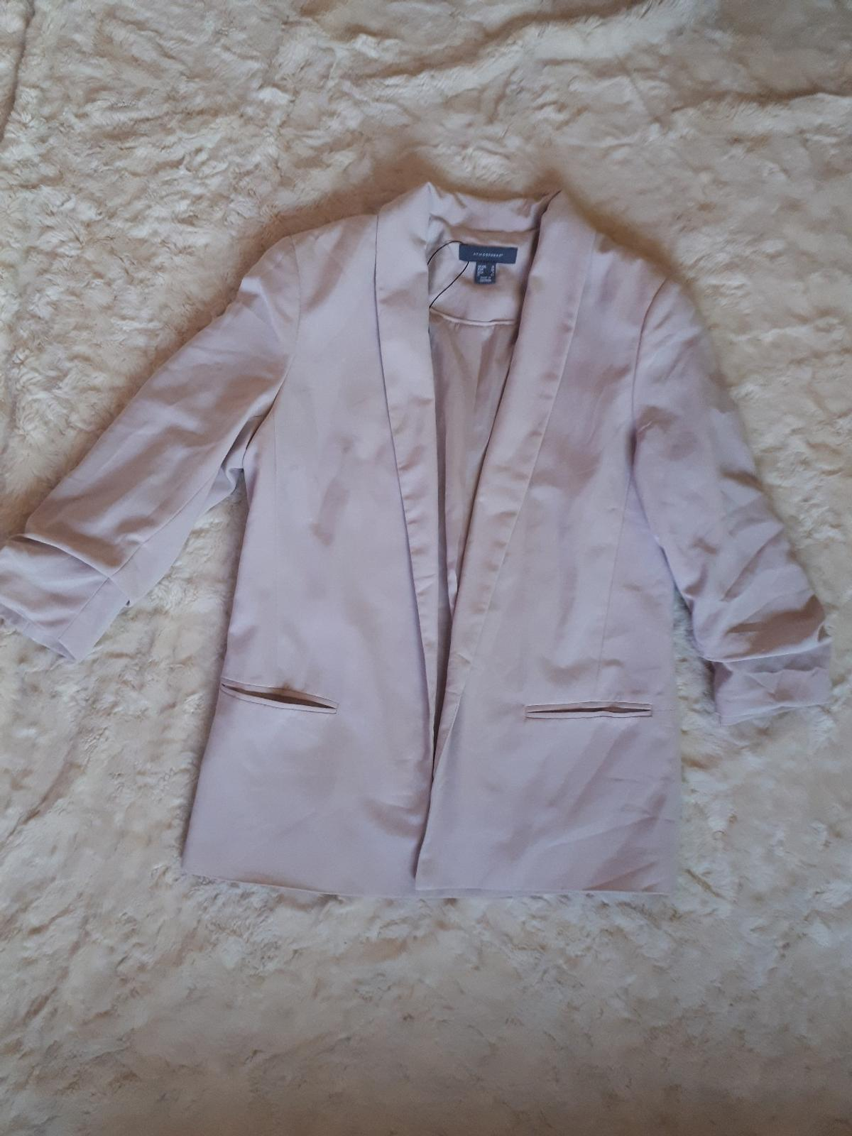 Size UK 10, pale pink blazer in a nice condition.  Please have a look around, I just sorted my wardrobe out and have many things that must go. I'm open to offers, discount on bundles:)