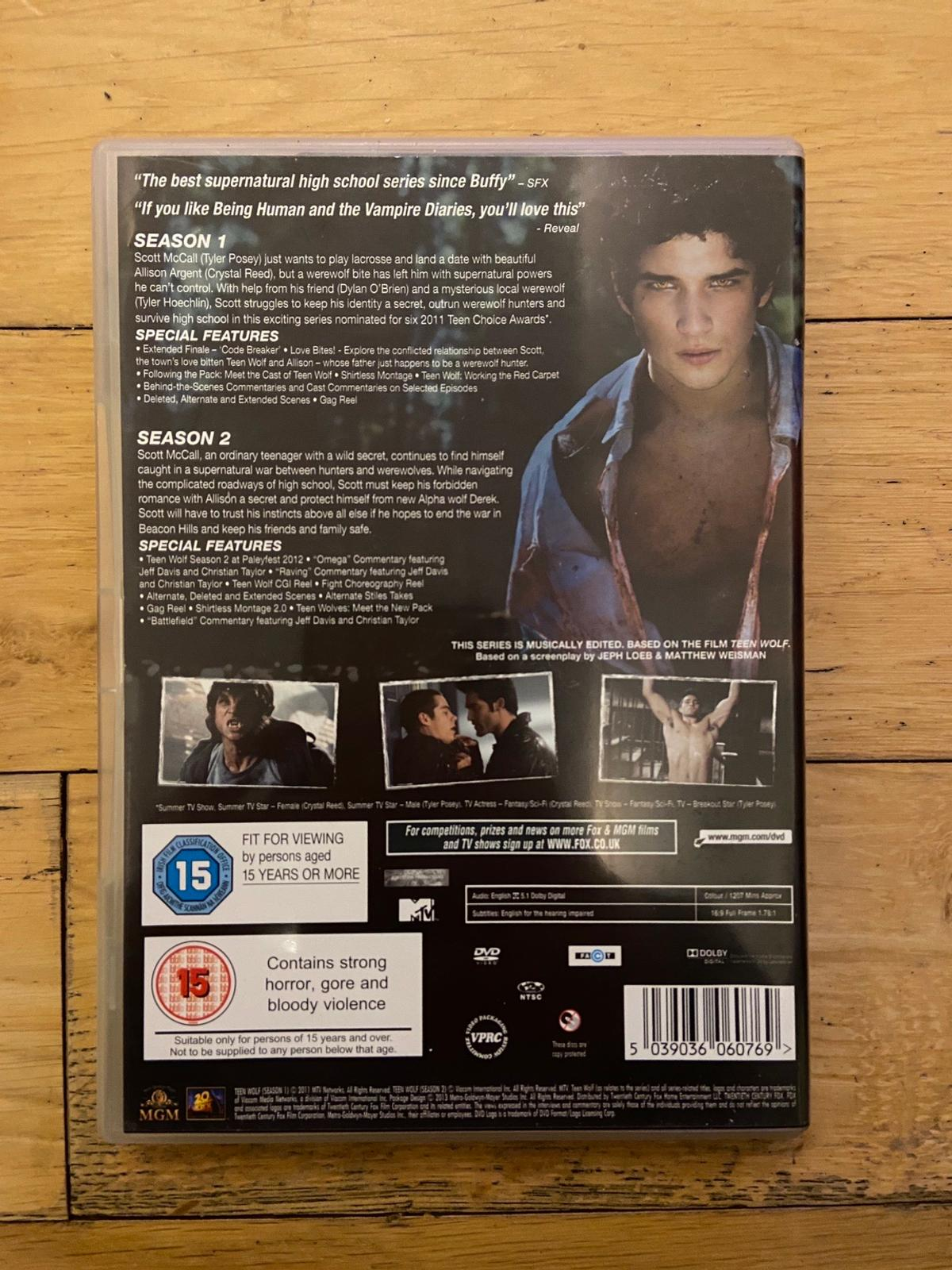 Teen Wolf Complete 6 Disc Set (24 episodes). Practically brand new, only been used once or twice.