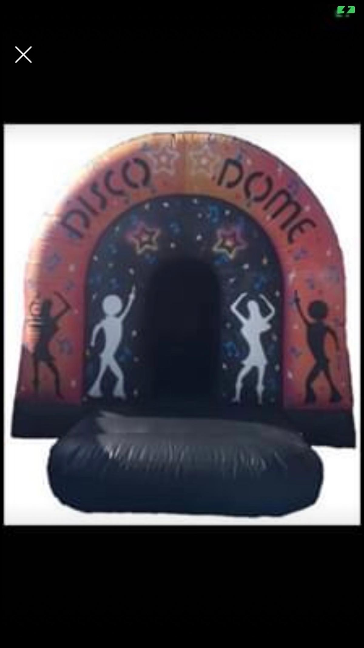 Bouncy castle disco dome comes with blower 1x mat lights music speaker Top castle for party's 15x15 ft approx no silly offers collection only thank you