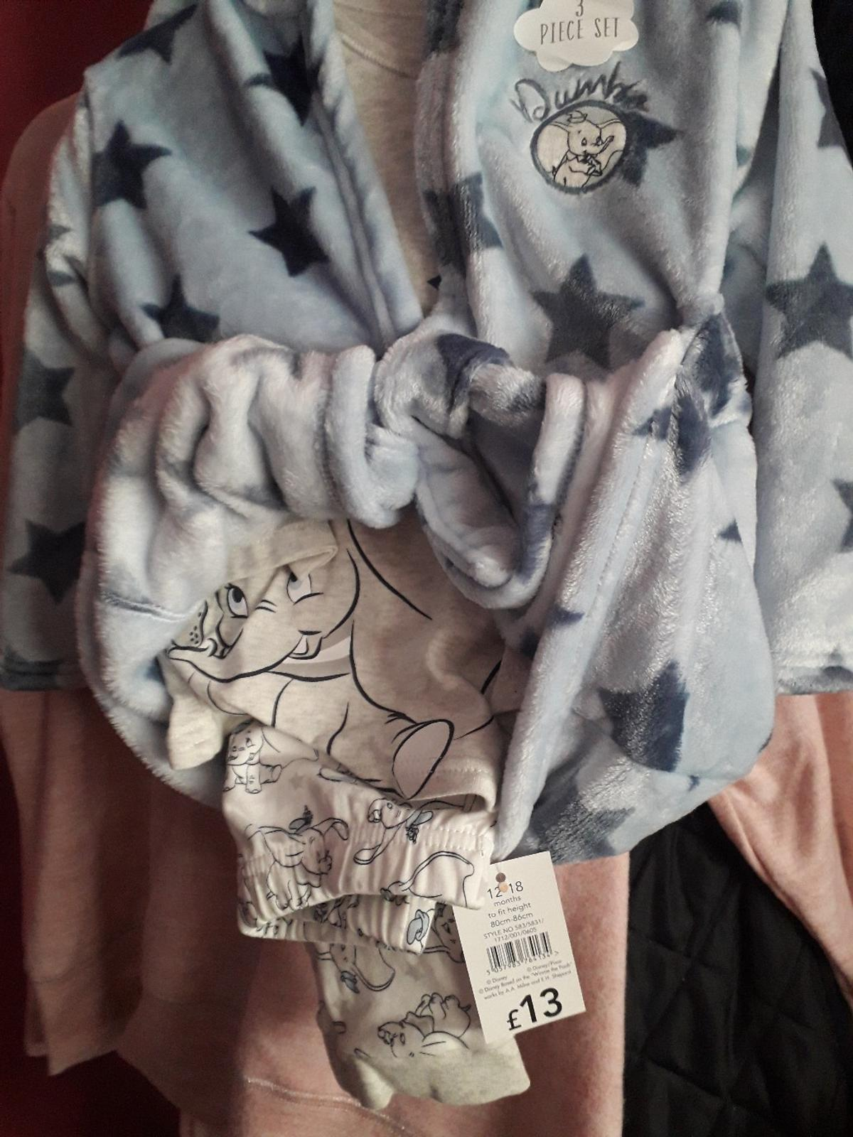 3 piece set (top, trousers & robe) brand new Disney dumbo size 12-18 months. collection near oval tube station or free local delivery.