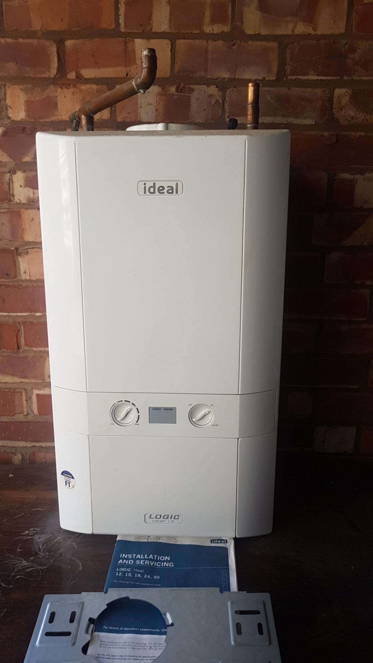 Ideal logic heat 15, heat only boiler with hanging bracket and installation manual. removed for upgrade to combi was working when removed. buyer must collect.
