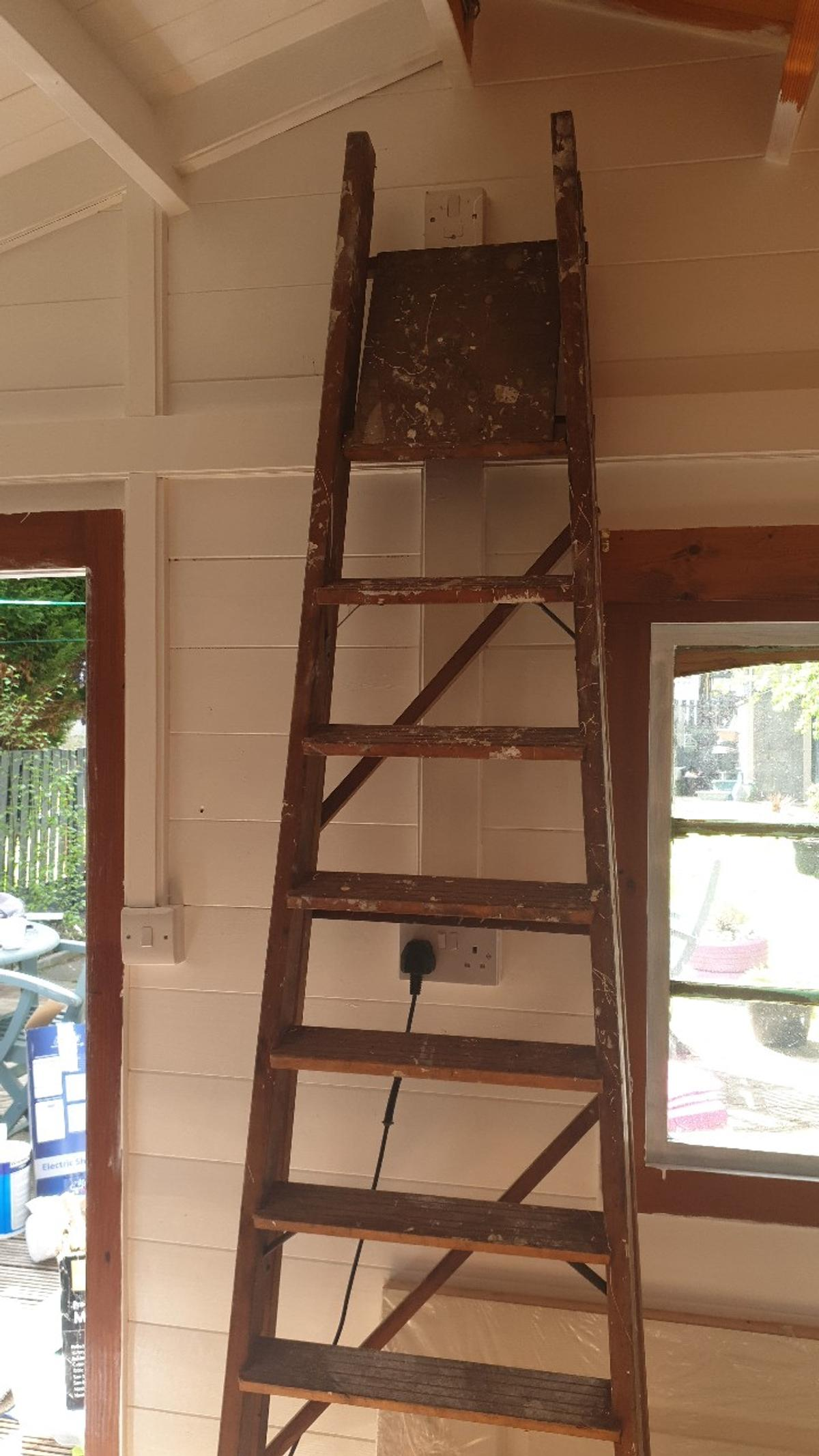 wooden step ladder. used but plenty of life left in them. offers welcome. collection royston. Thanks