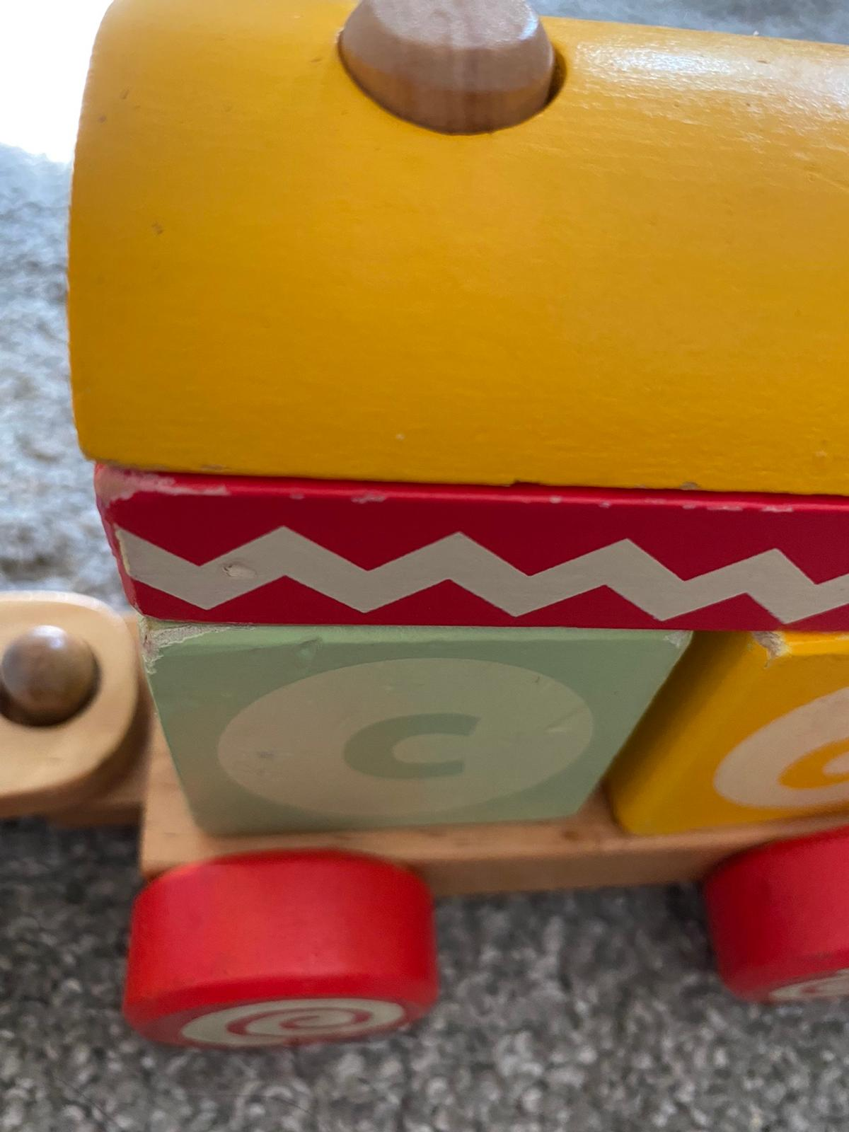 A much loved toy by my little girl just out grew it now some wear & marks from play see all photos ABC/123 blocks
