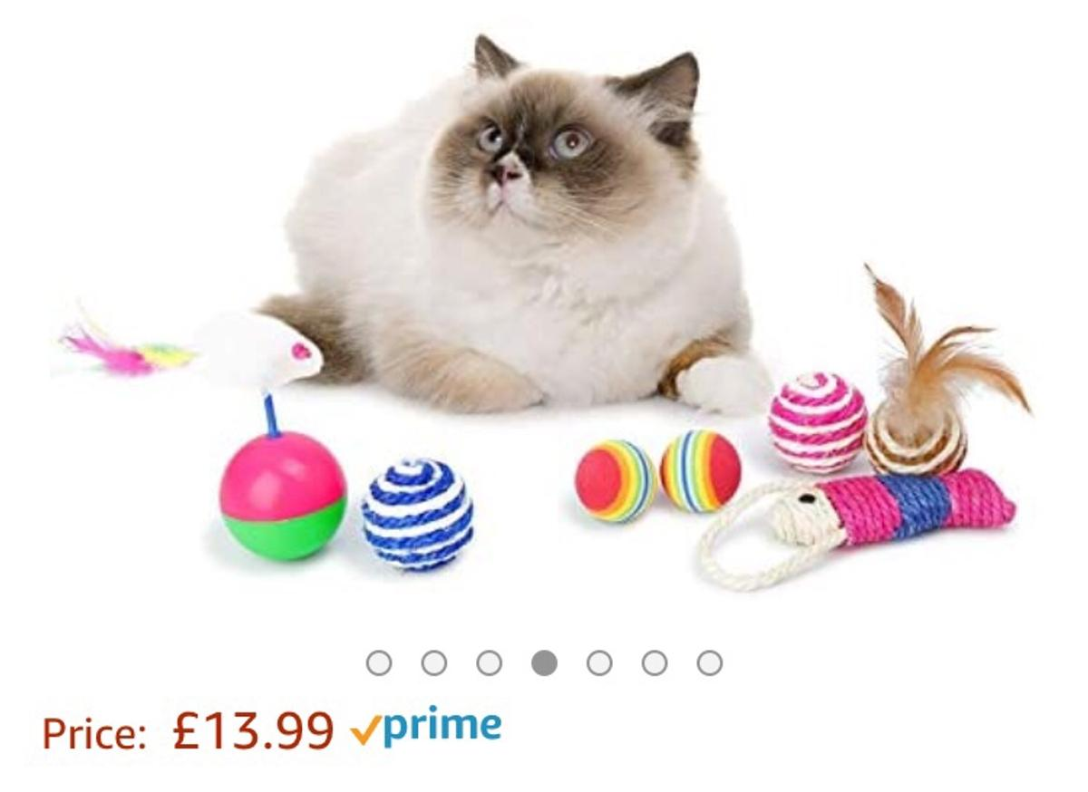 Cat Toys 24 Pcs Kitten Toys for Indoor Cats Kitten Interactive Mouse Toys Set for Kitty and Cats Bonus Storage Bag