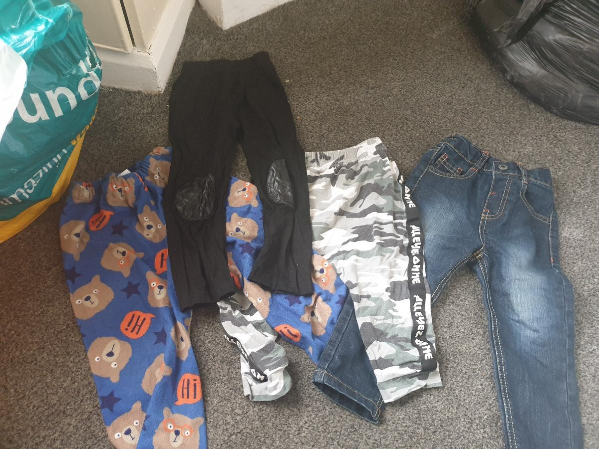 I have a black bag of boys clothes that are no longer needed, theres tops,trousers/Jean's, so is,coats,jackets ect, varying from different ages...some are 18-24months to 2-3years old.all in great condition, collection from b12