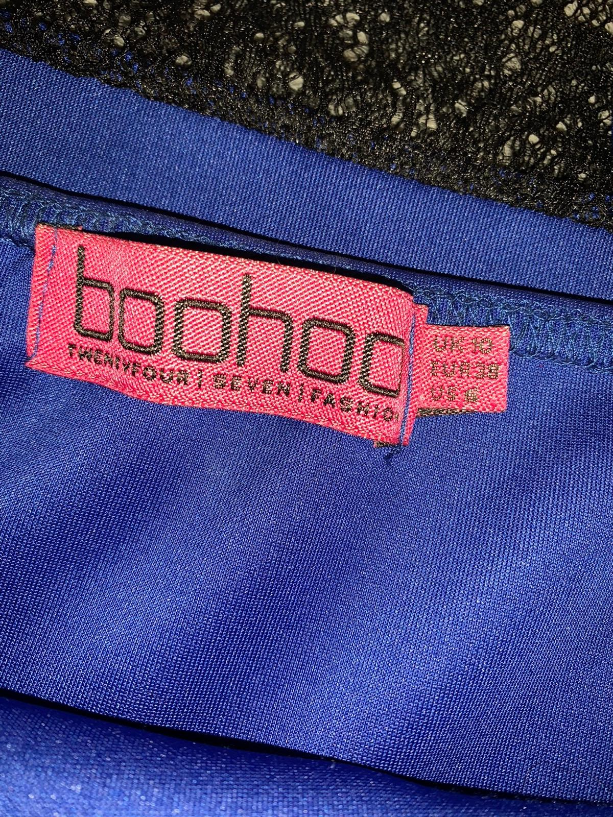 Size 10 boohoo fitted dress warm once
