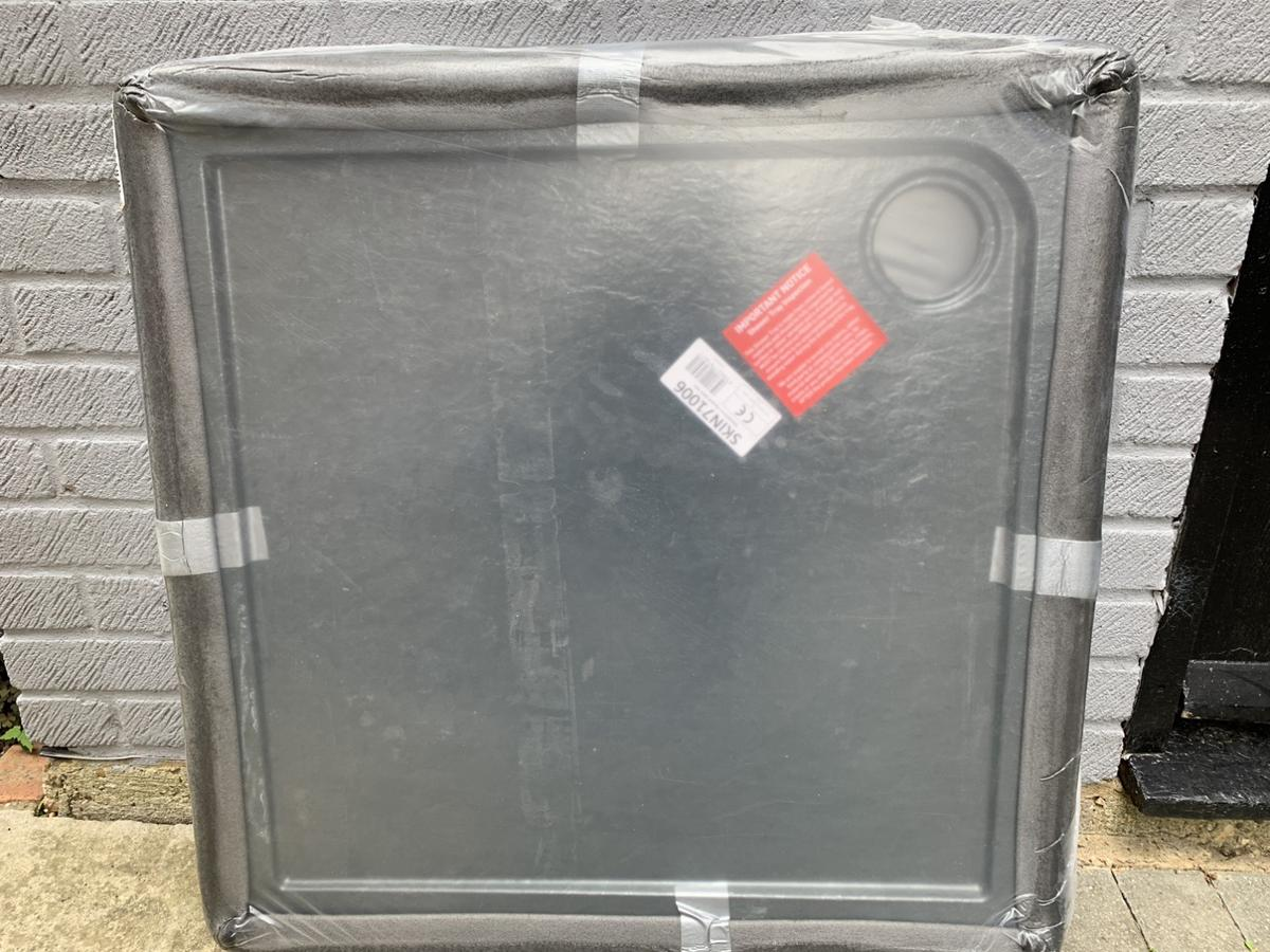 Aurora Slate Effect Stone Square Shower Tray - 800 x 800 x 40mm. See link