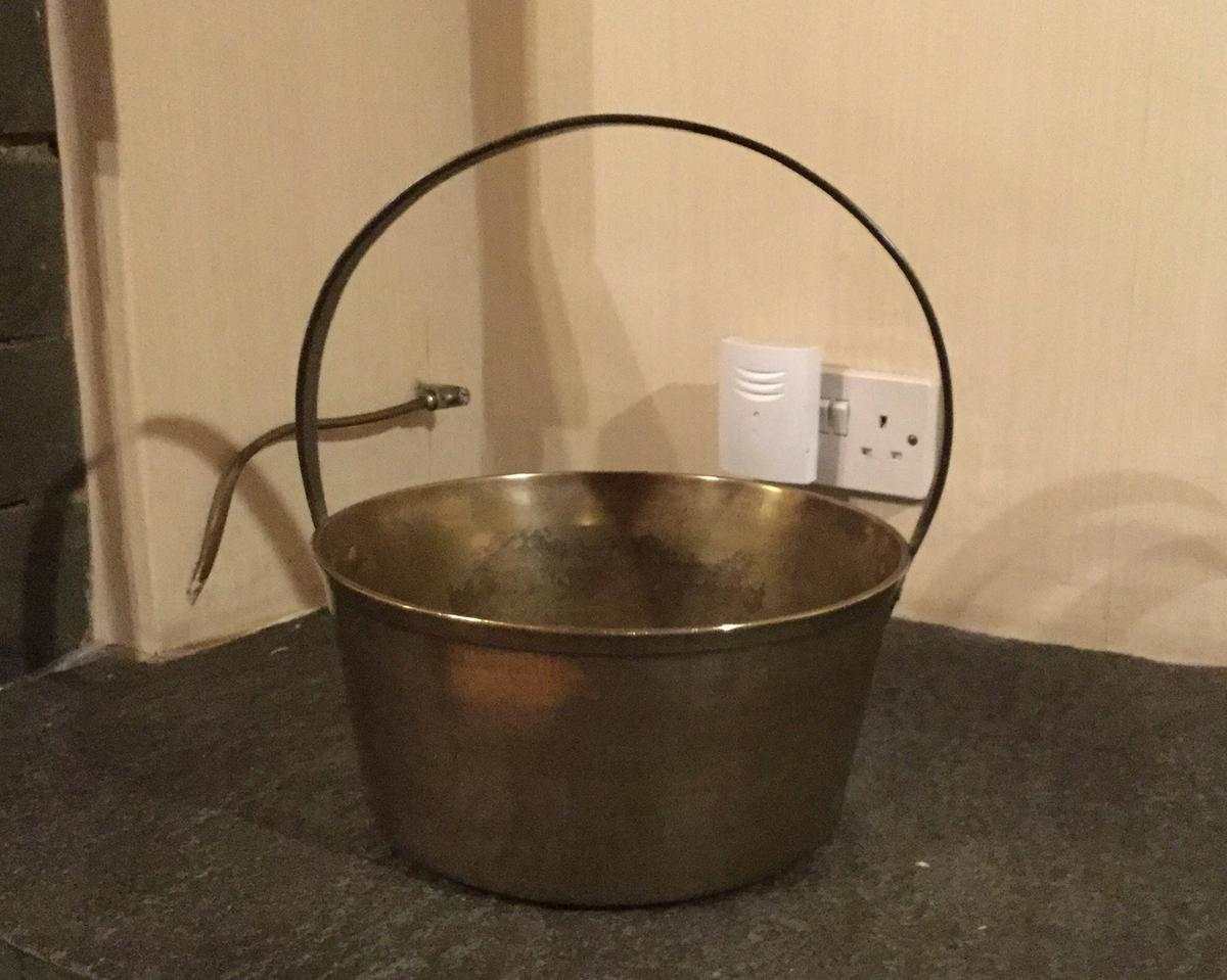 Old brass cauldron (jam pan)  Collection only