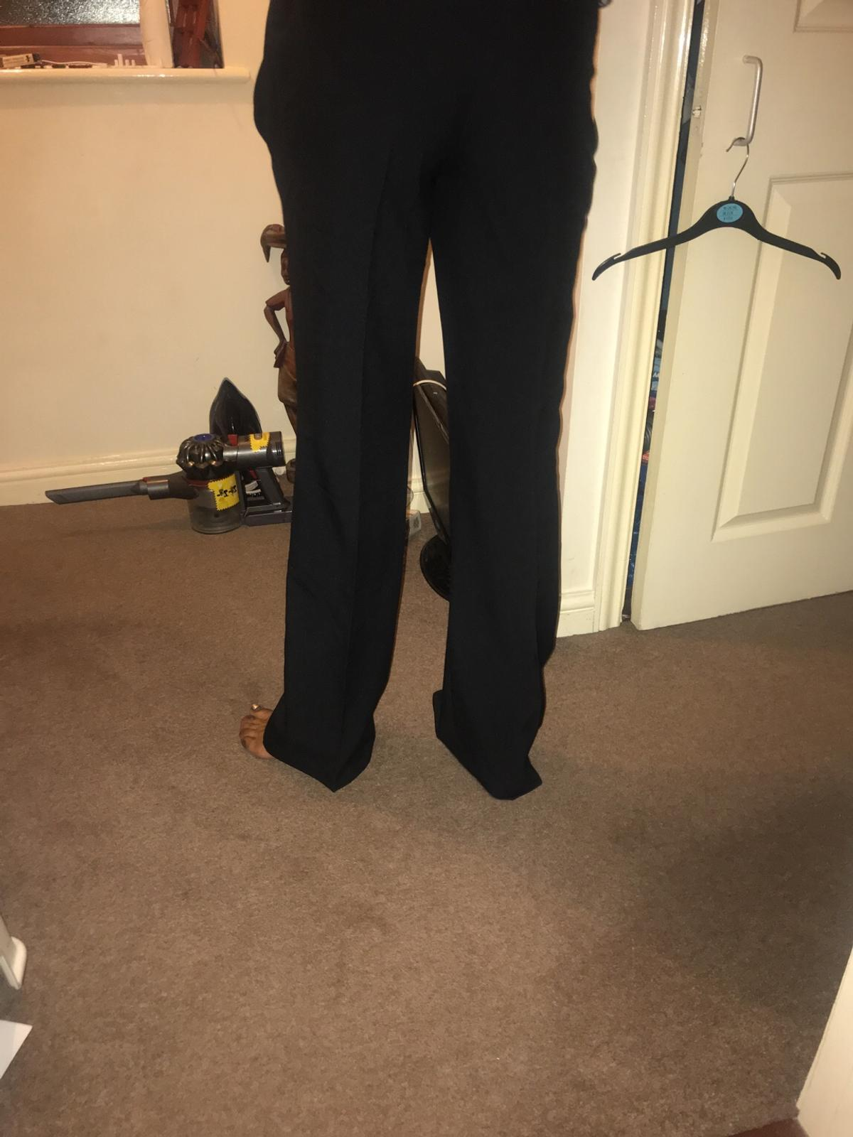 Women's smart wide leg trousers  Size: uk 12 Colour: Black  Condition: Like new. Tags removed but never worn as too big for me  Collection or post