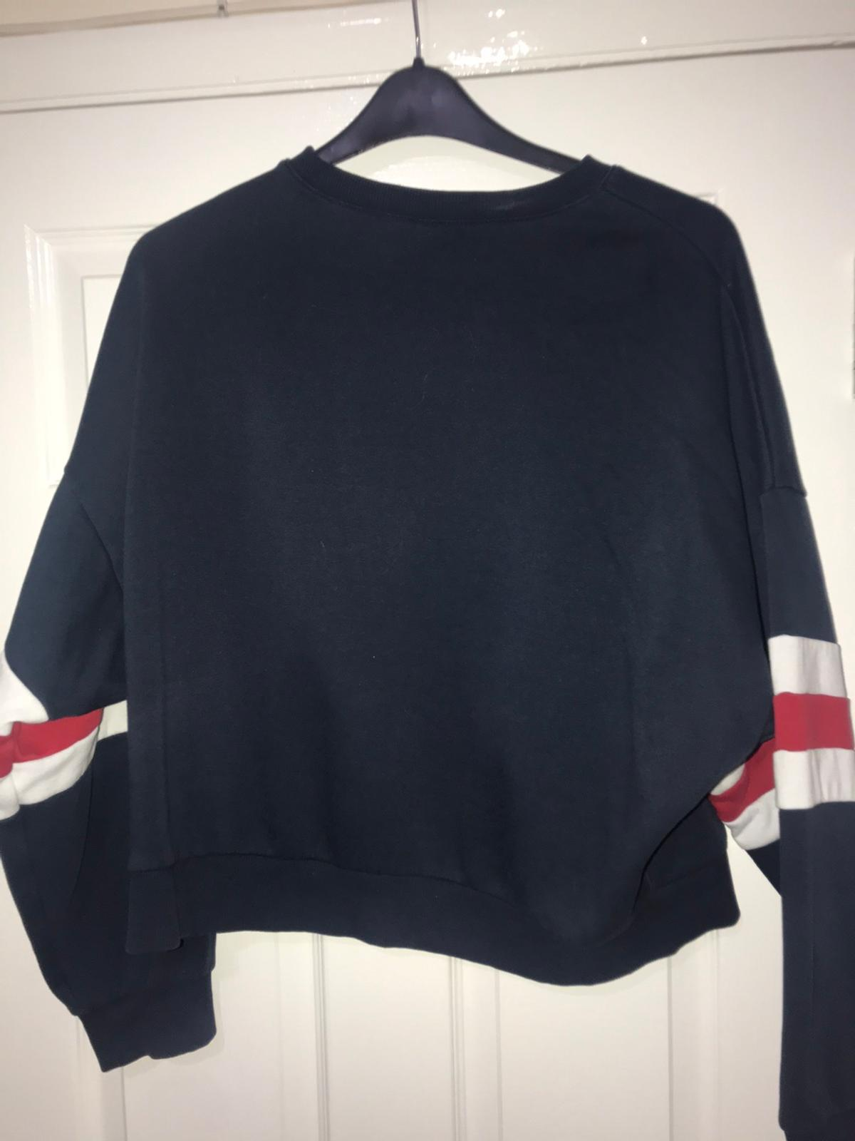 Ladies blue jumper. Tommy Hilfiger style. I brought this for £18.99 from h&m last winter, I didn't wear it much! Size Medium.