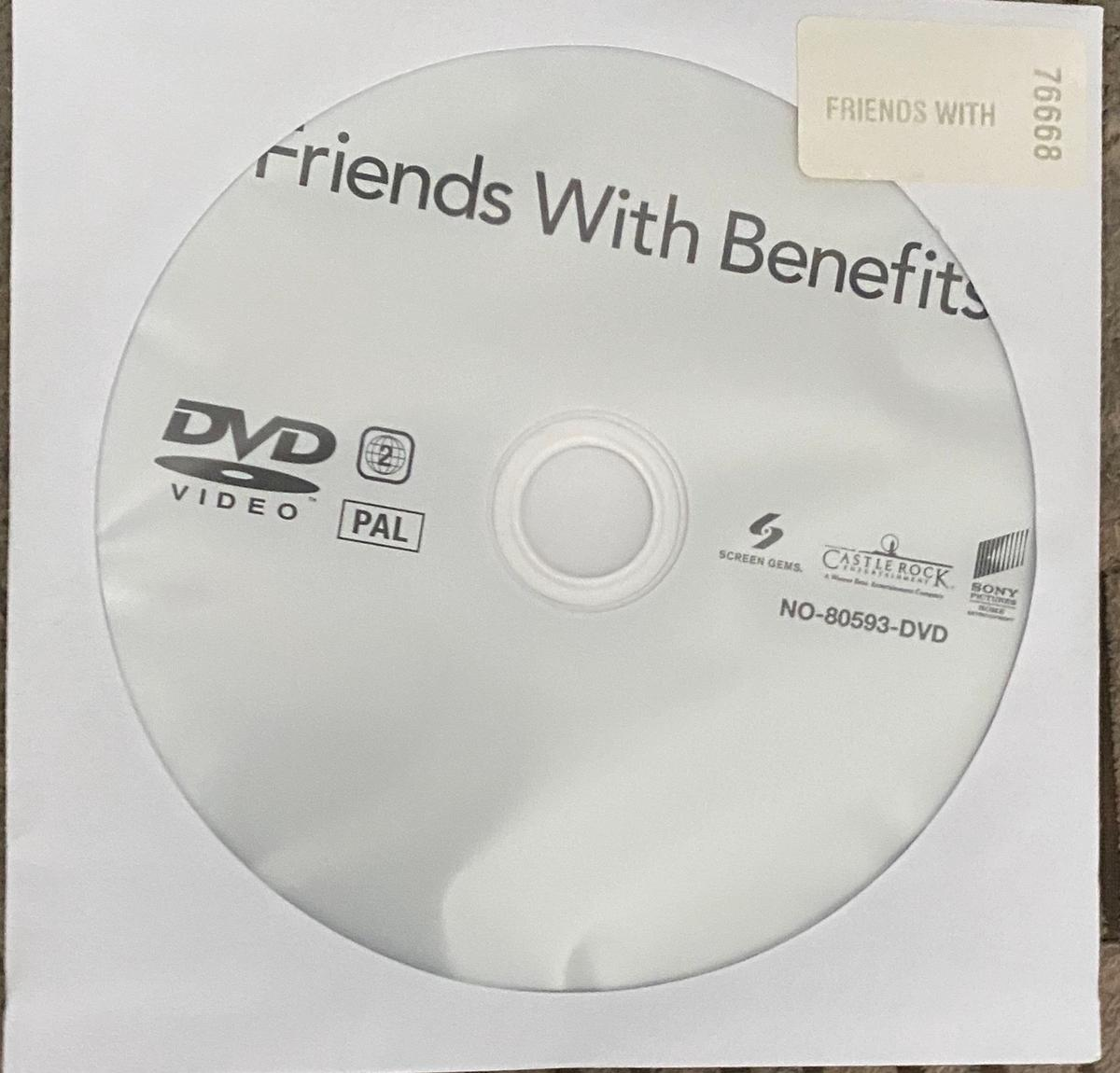This is for a genuine friend with benefits Dvd movie   DVD DISC ONLY