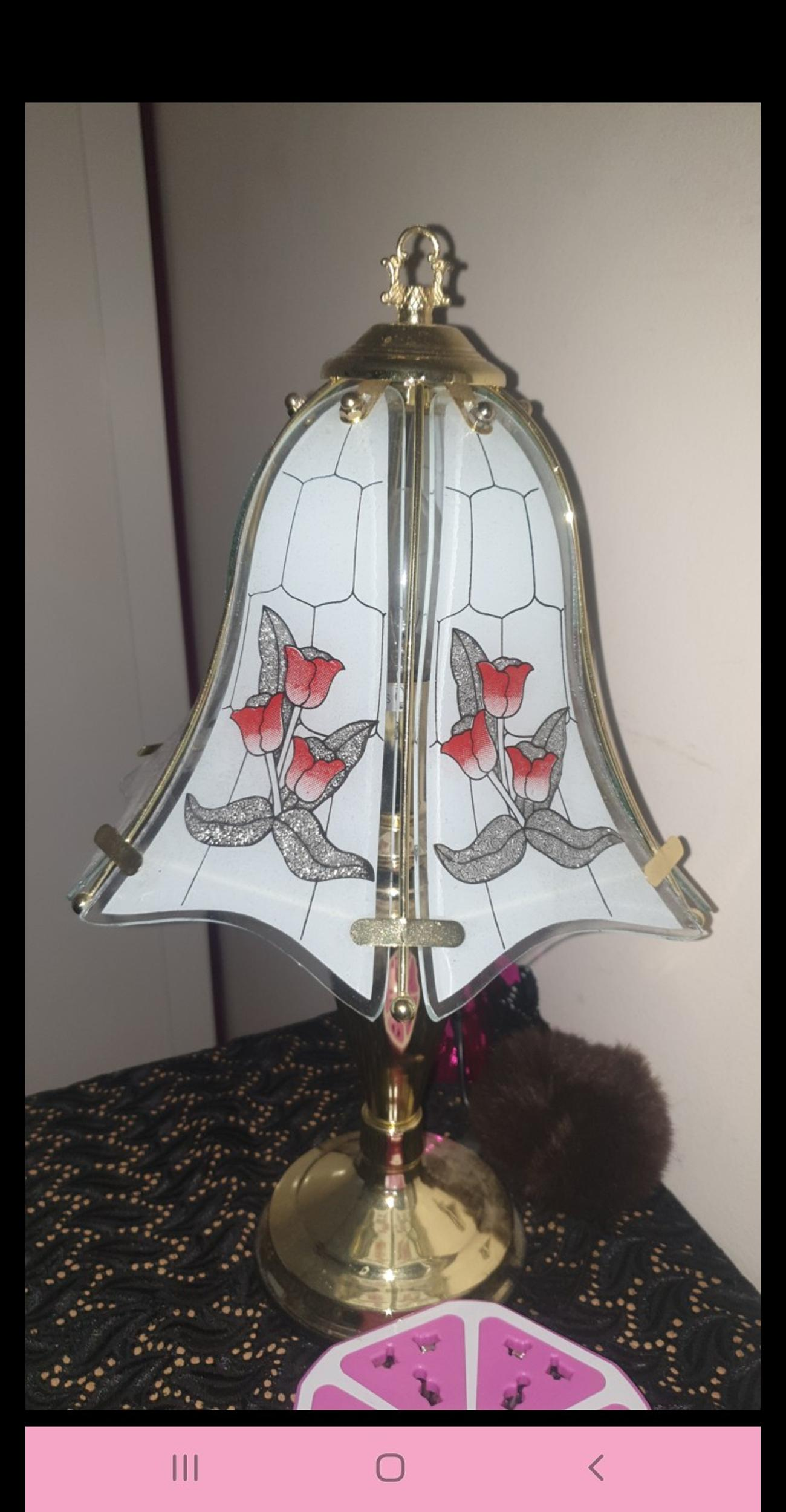 I have this beautiful vintage lamp touch its in beautiful condition and working order open to offers