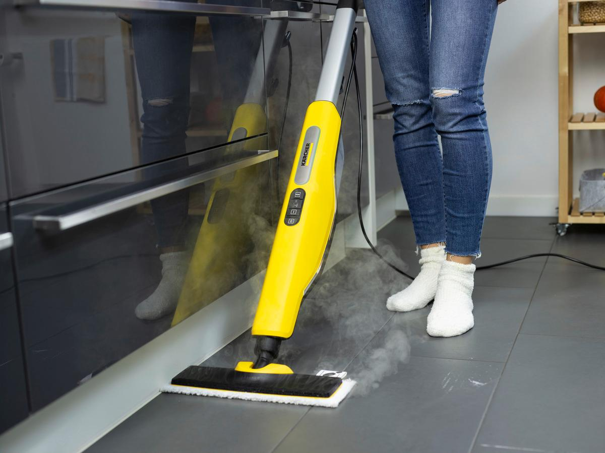 The Kärcher SC 3 Upright is Kärcher's best performing steam mop and is ready to use in just 30 seconds, removing 99.999% of enveloped viruses* and killing 99.99% of common household bacteria** using nothing but tap water. The SC 3 upright has 3 predefined floor settings and the LED lights indicate when the machine is ready for use ensuring the perfect amount of steam is allocated as well as delivering continuous steam.  collection or delivery For more info please contact 07502992222