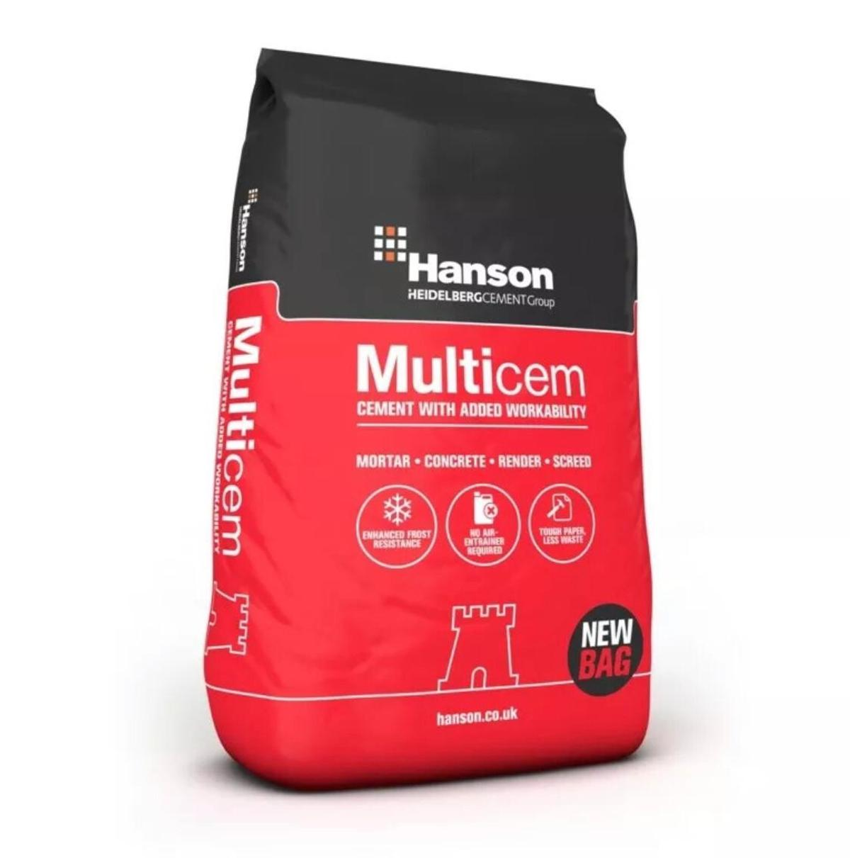 Cement 25KG Hanson MultiCem Fully Waterproof Bag